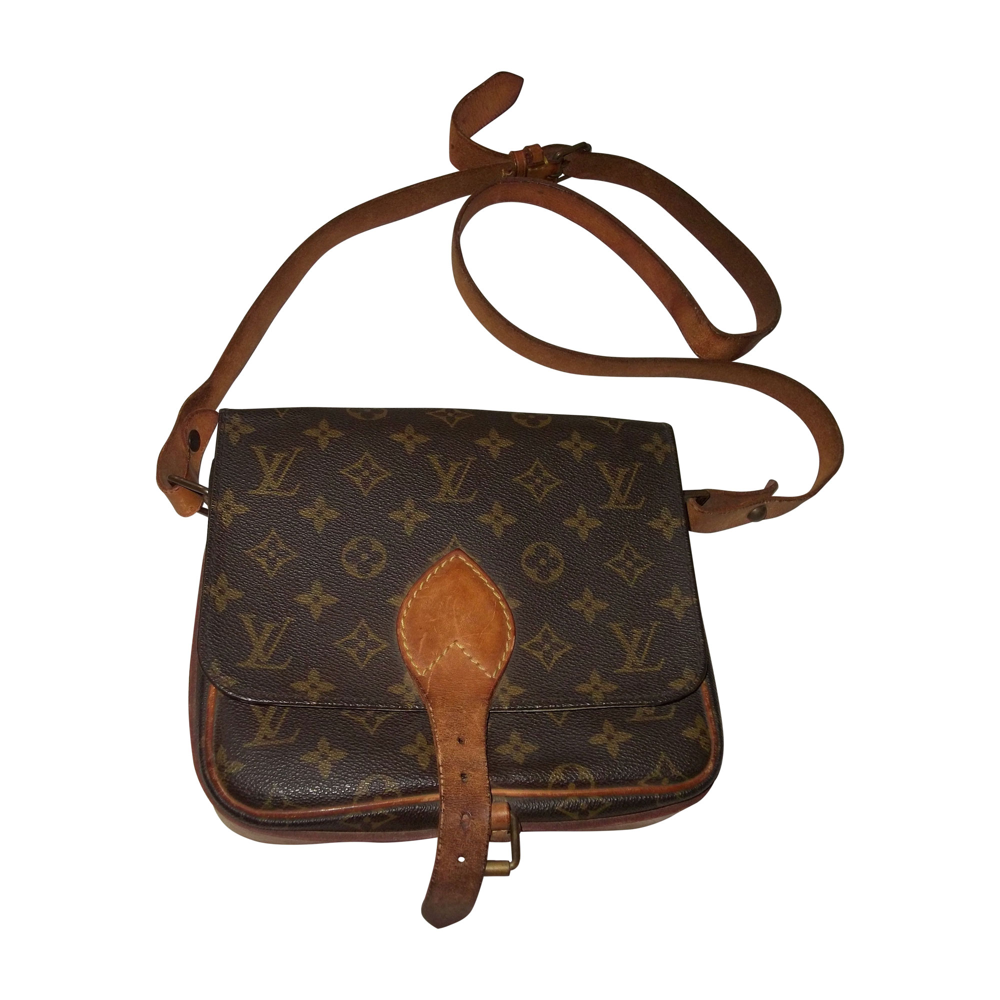 77197be3b9de Sac en bandoulière en cuir LOUIS VUITTON marron vendu par ...