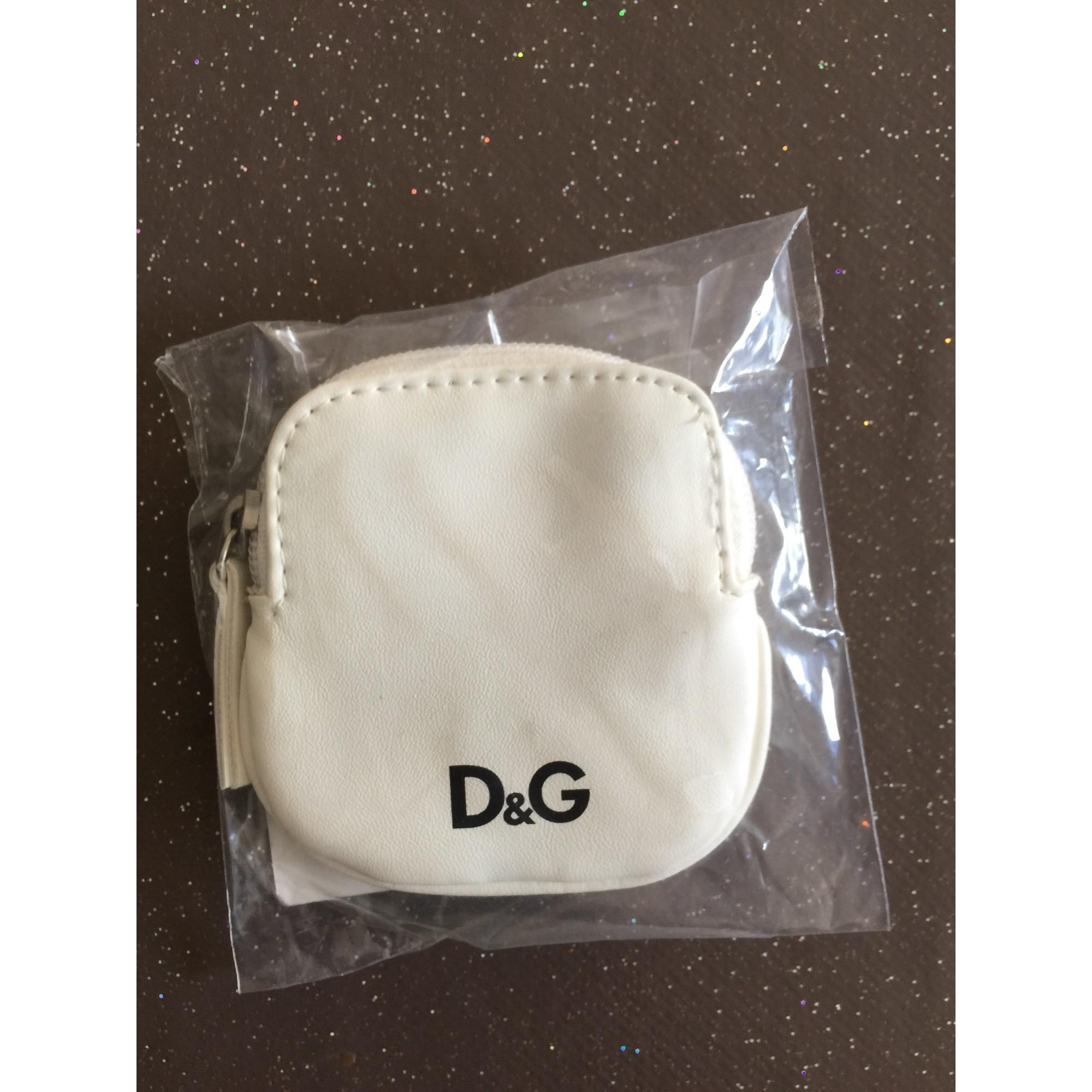 Porte-monnaie D&G plastique blanc