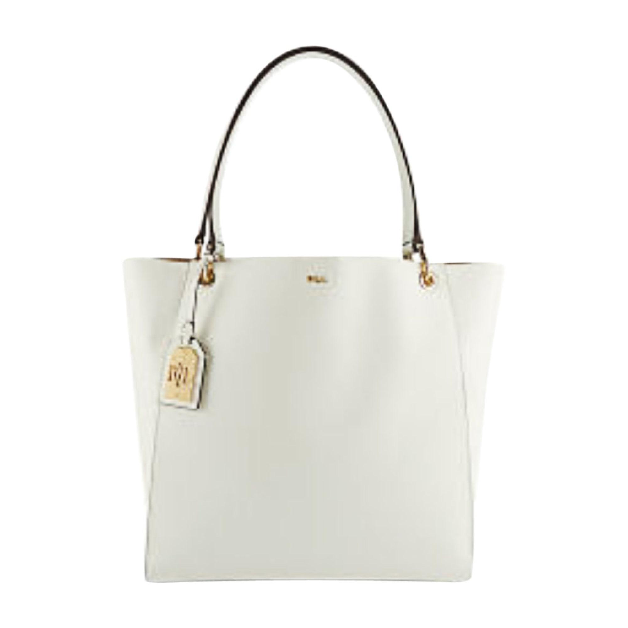 Leather Oversize Bag RALPH LAUREN white