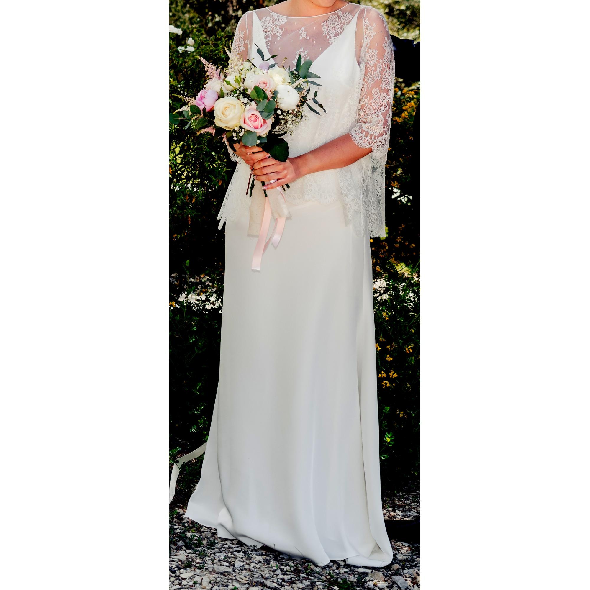 Brautkleid DELPHINE MANIVET 40 (L, T3) weiß vendu par Ga 8346 - 6390108
