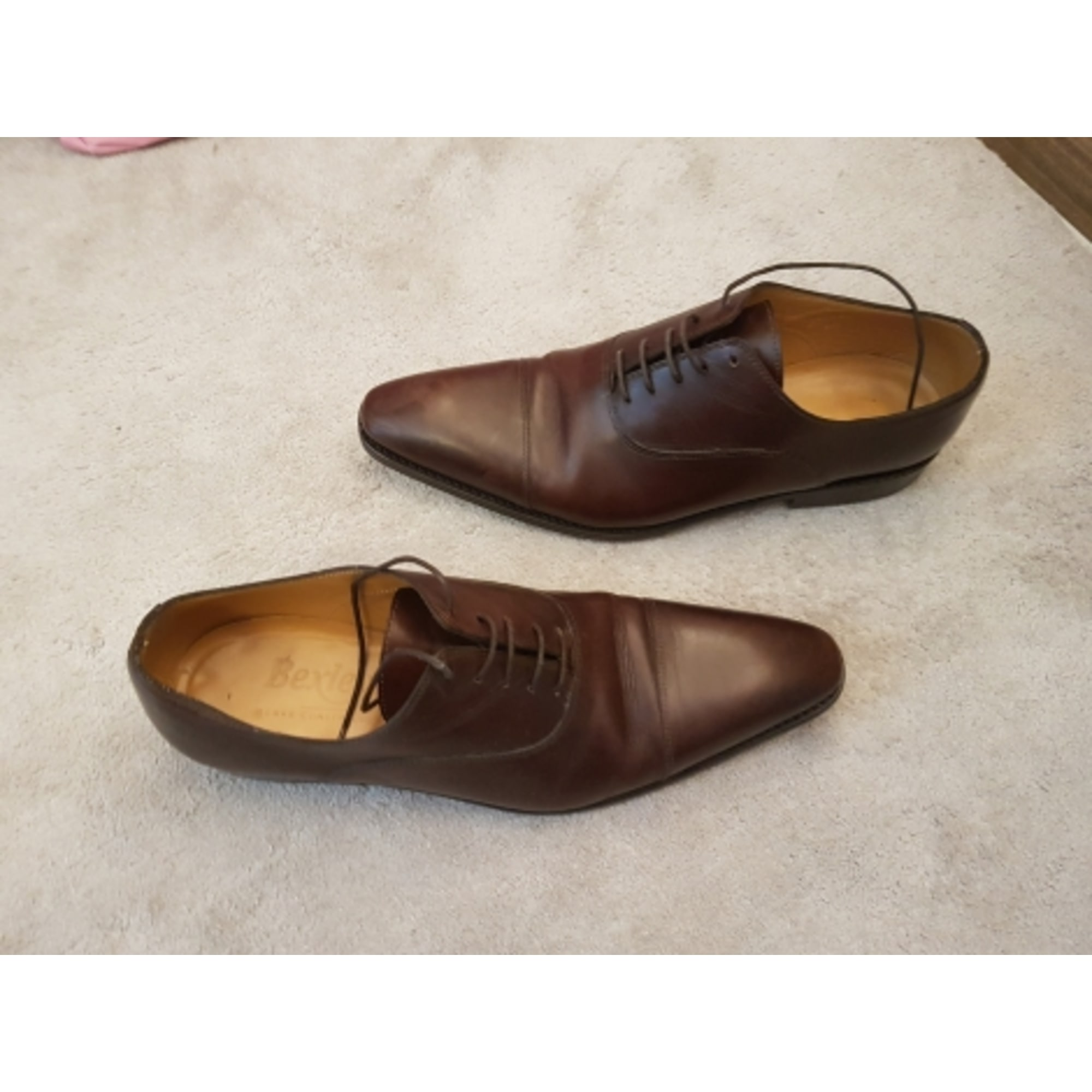 Chaussures à lacets BEXLEY cuir marron 41,5