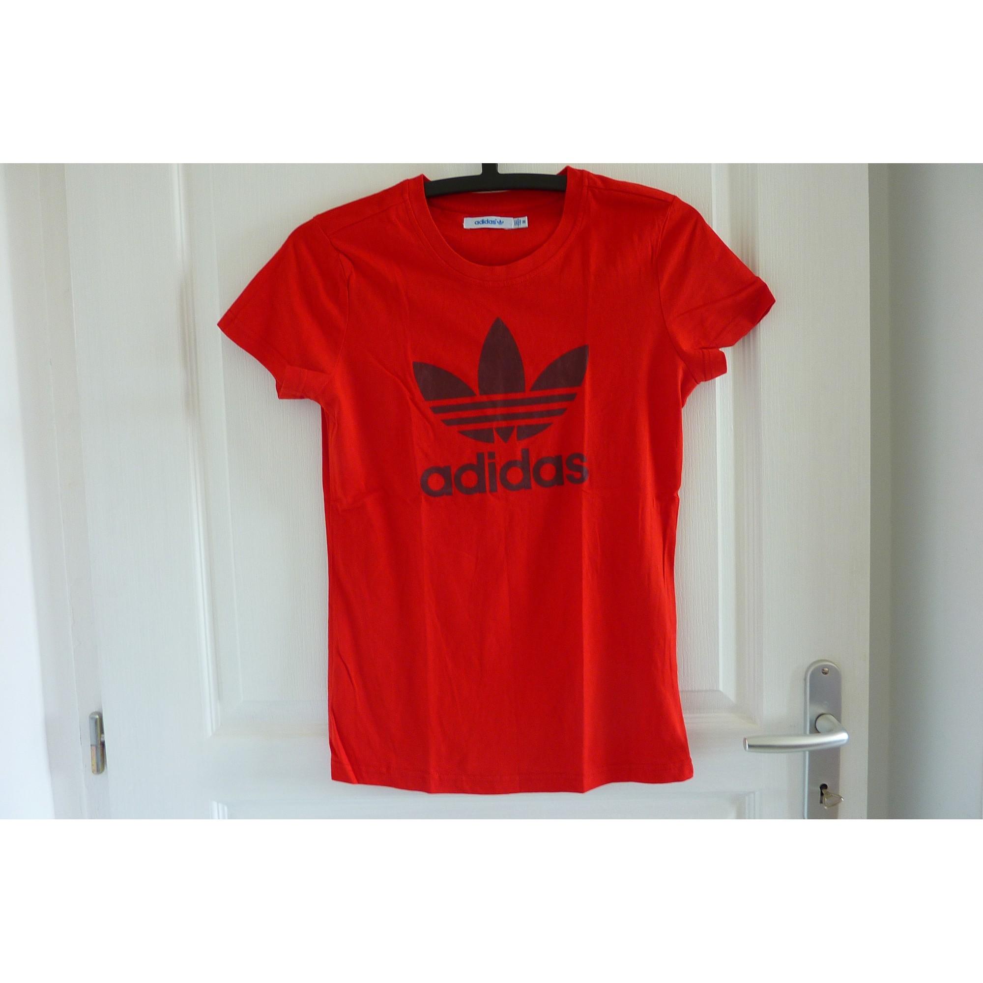 56f2ef7bf52ed Top, tee-shirt ADIDAS 36 (S, T1) rouge - 6393391
