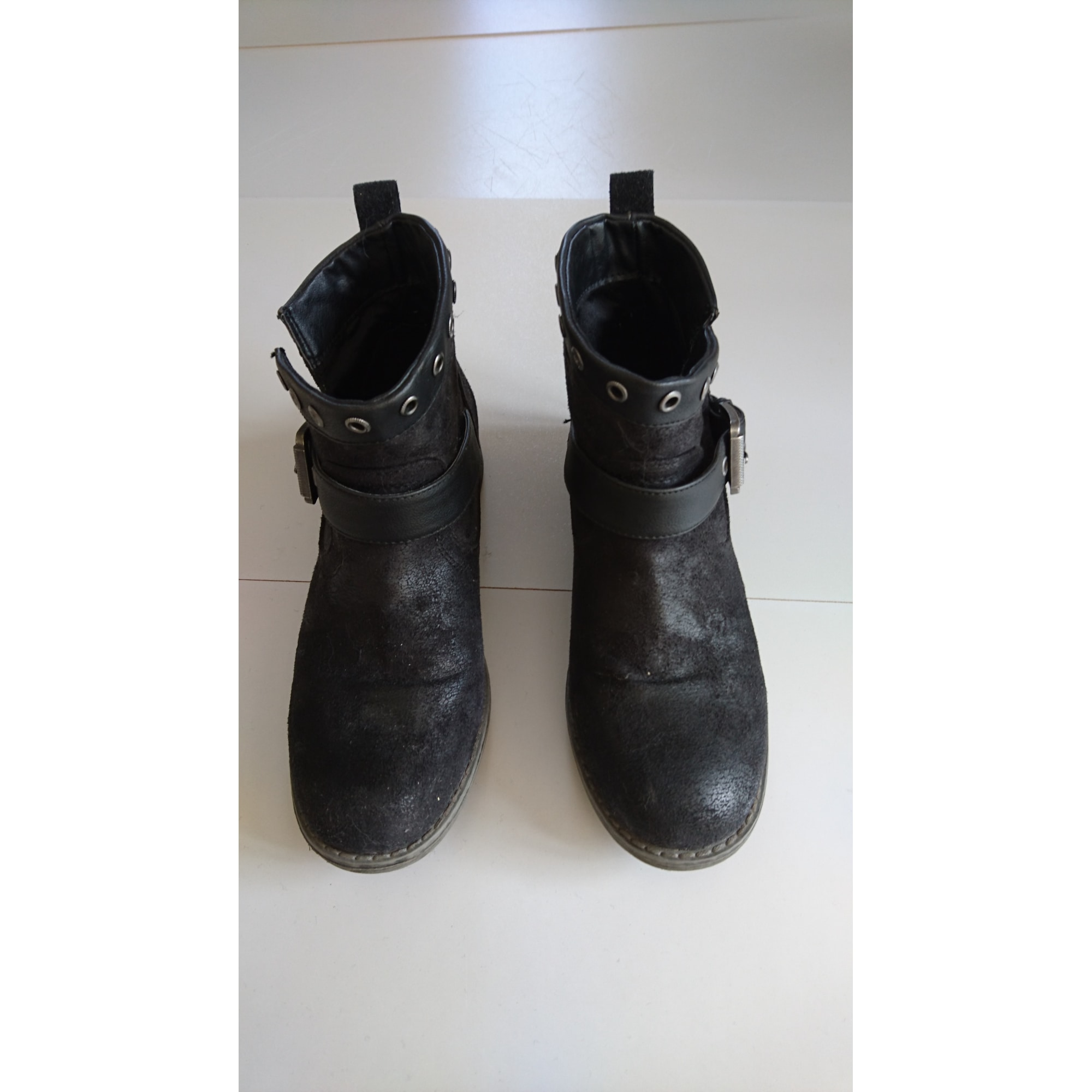 08e89867a46 Bottines   low boots plates TEXTO CHAUSSURE 38 noir - 6399537