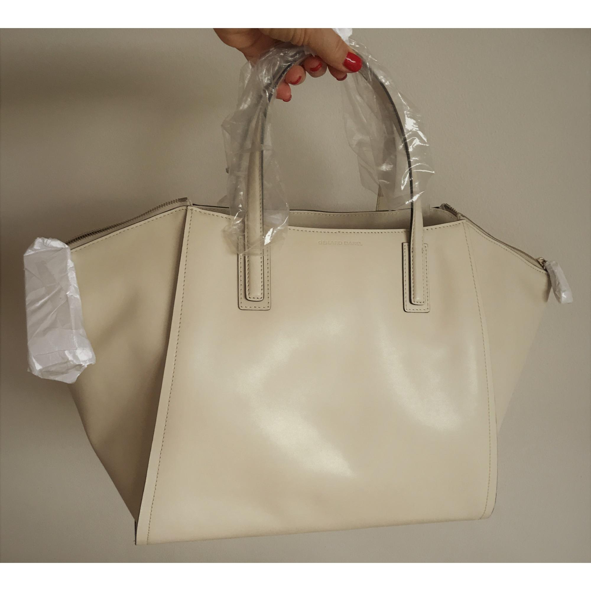 Sac à main en cuir GERARD DAREL creme ivoire blanc cassé vendu par ... 0799872608c2