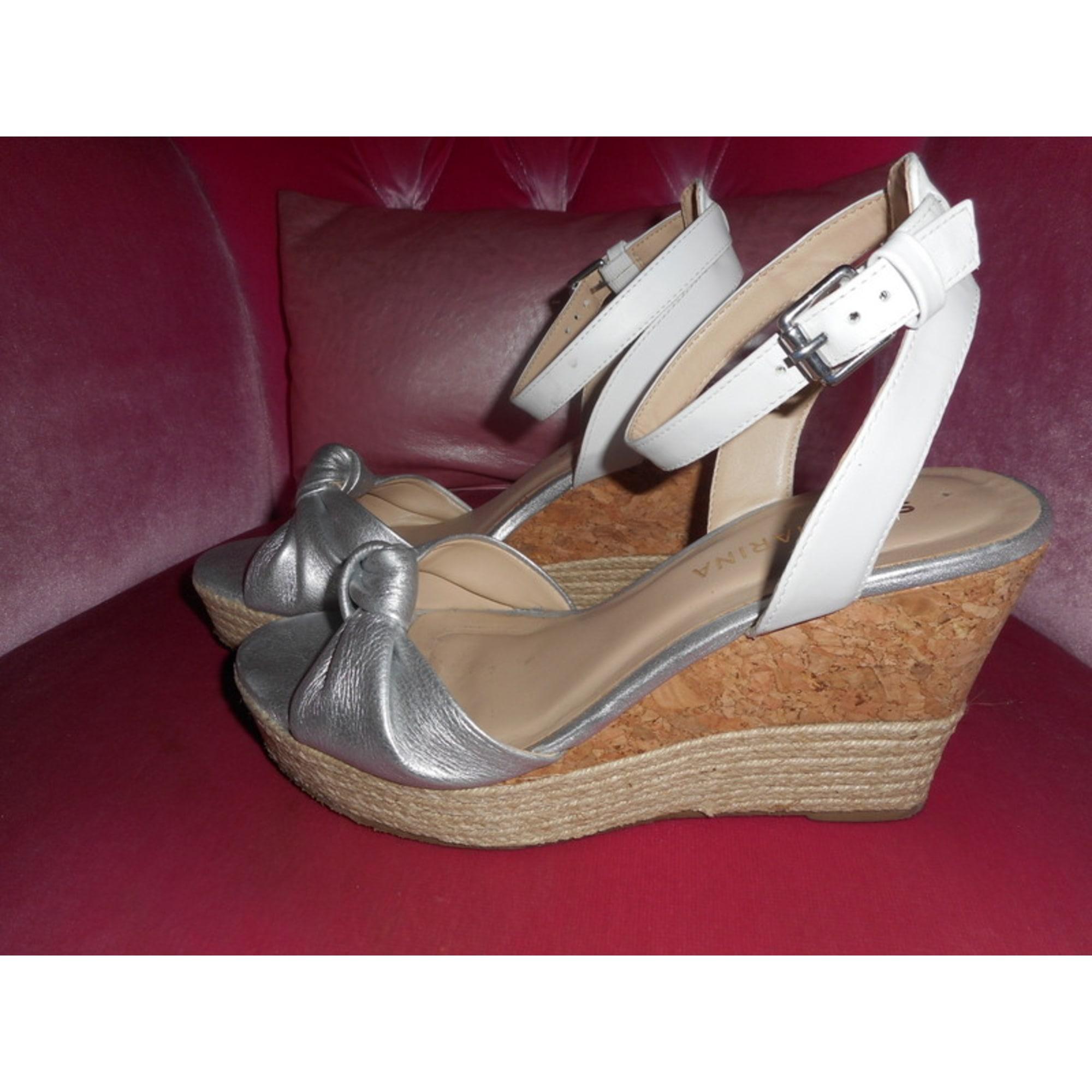 Compensées San Blanc 6412253 Sandales Marina 39 N0w8vnm