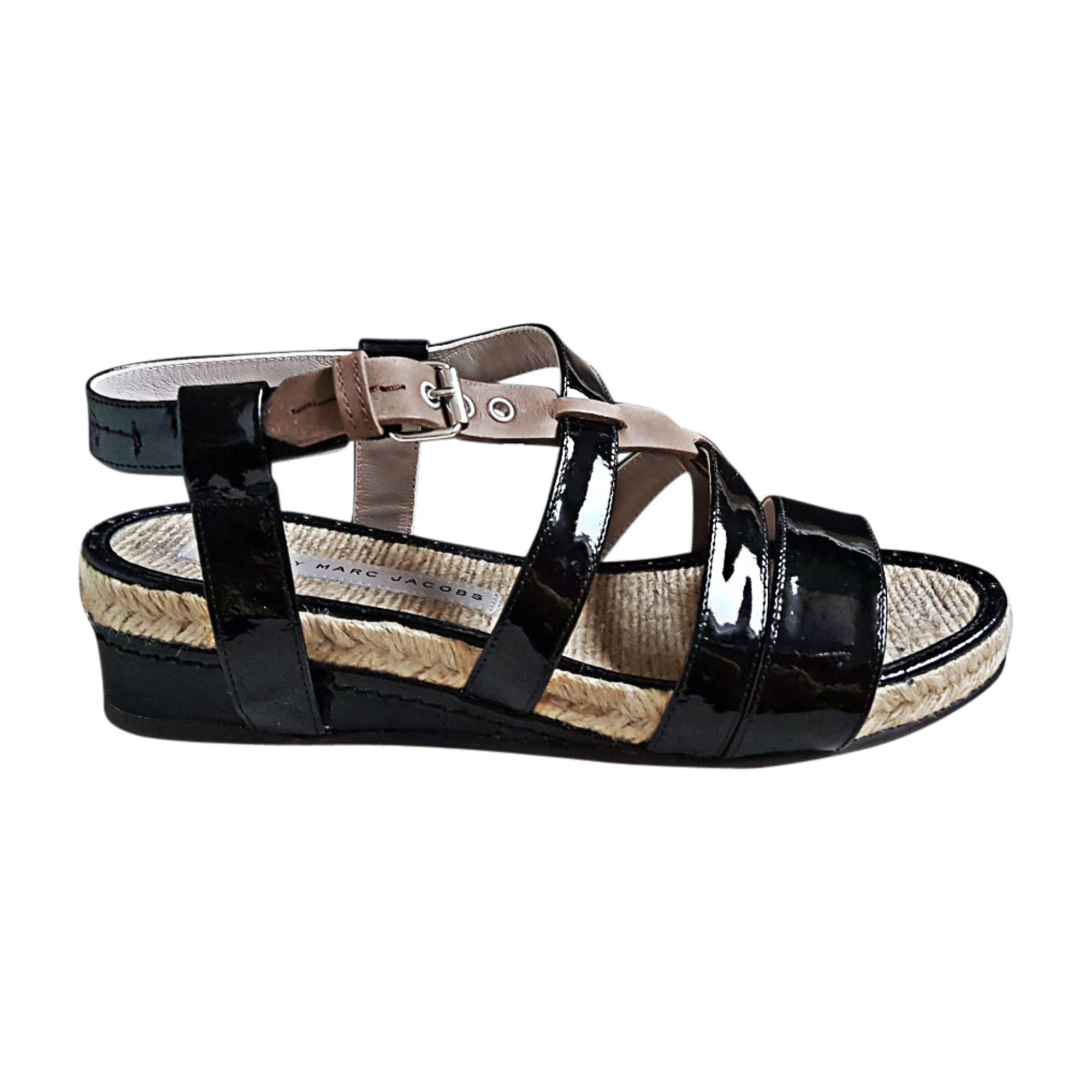 Sandales compensées MARC JACOBS 37 noir vendu par Emma 5012 - 6422097 b53be8c14aa