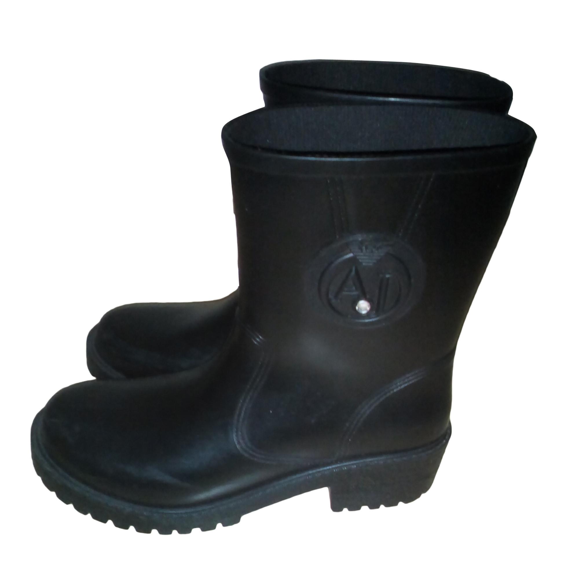 Bottes de pluie ARMANI JEANS 40 noir - 6425455 df24276e0c6e
