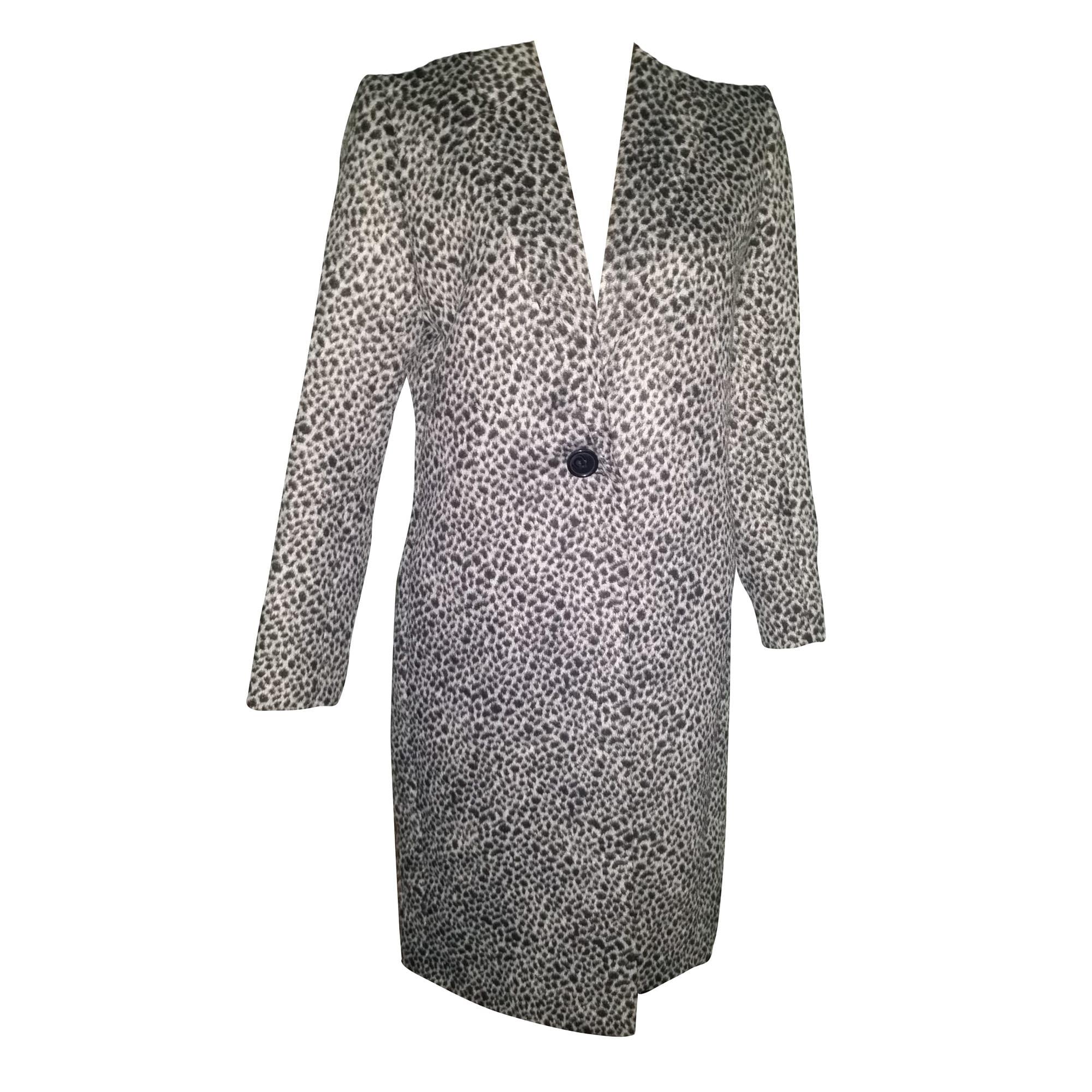 30957c565465 Manteau MAJE imprime leopard gris