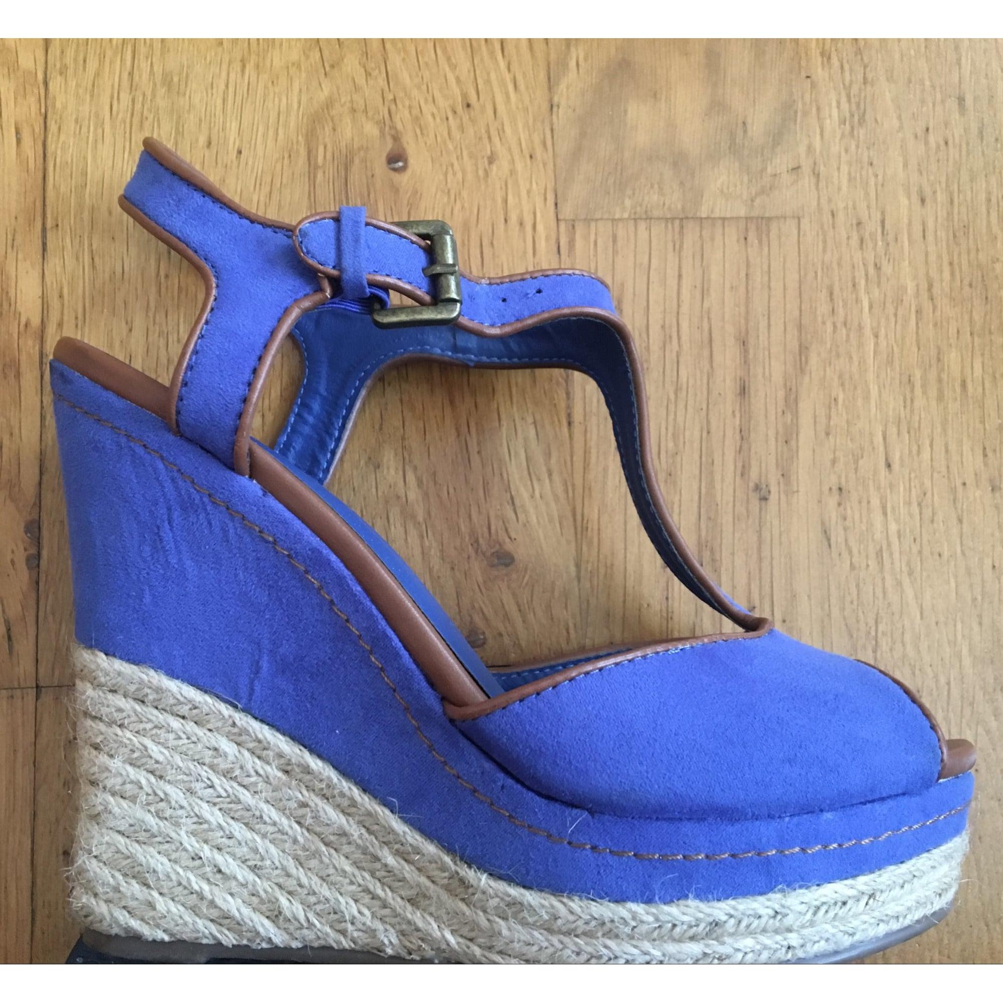 dfe36689f8ff47 Sandales compensées MARYPAZ 37 bleu vendu par Sonia 2471 - 6434400