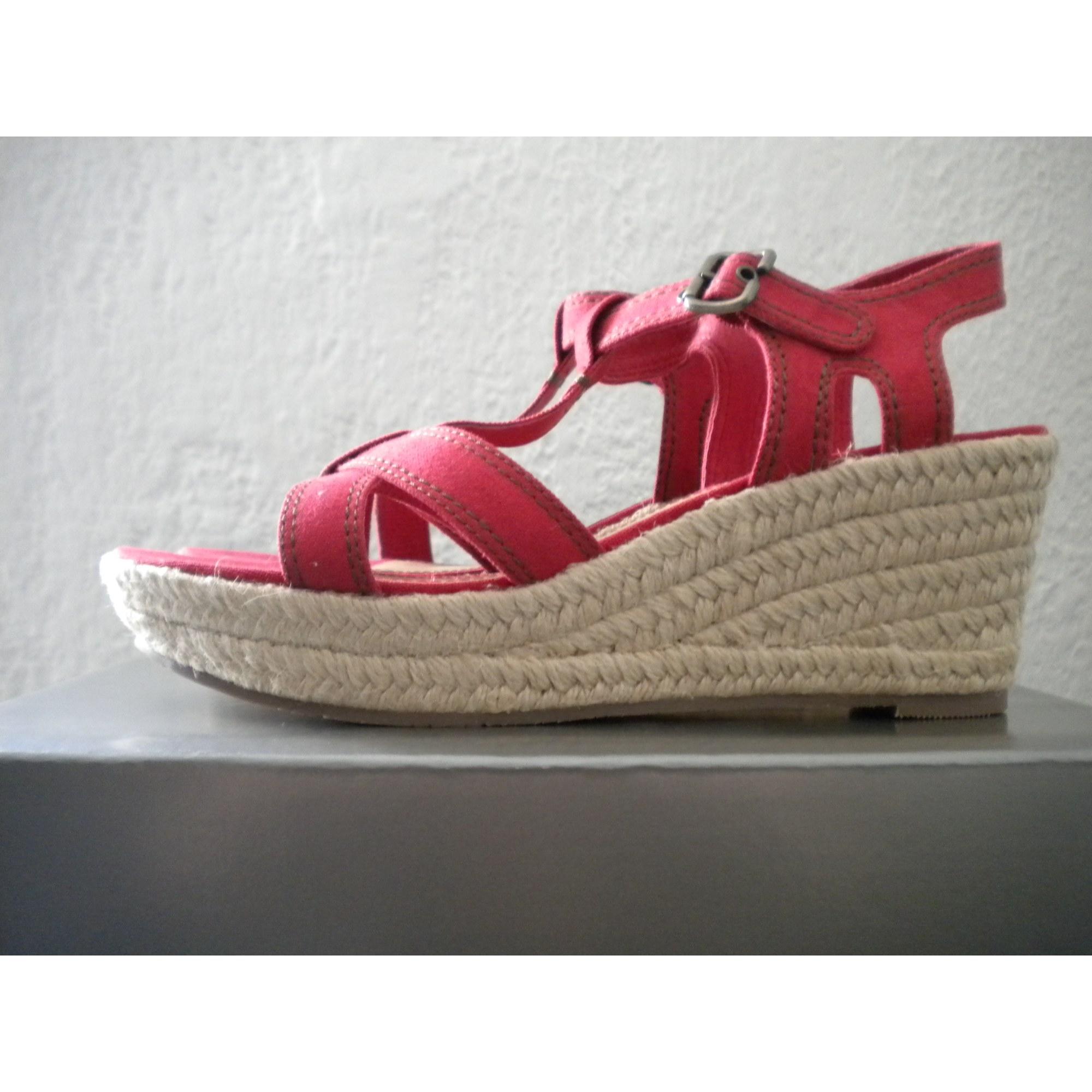 Sandales compensées ESPRIT Rouge, bordeaux 8e065f38c09f