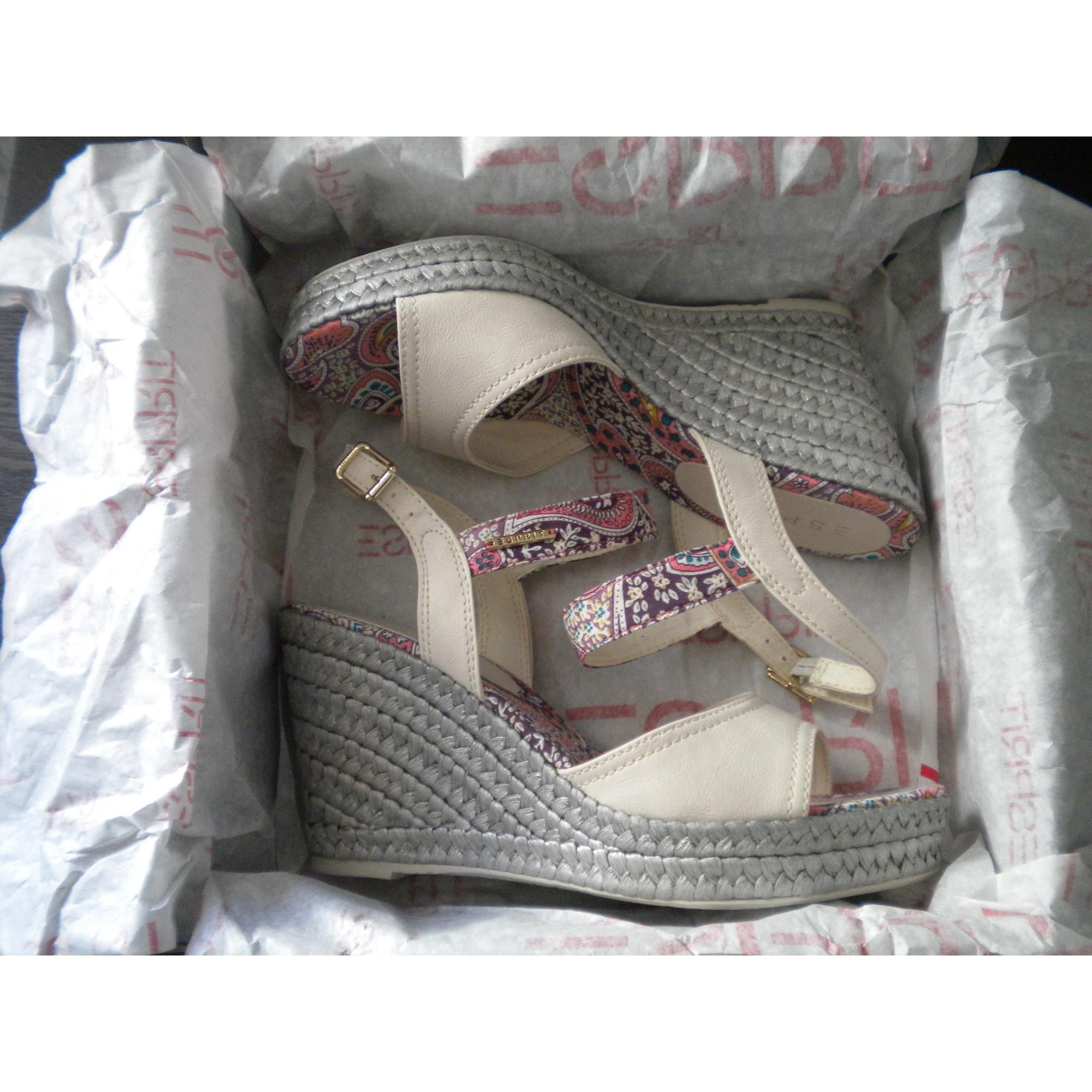 Sandales compensées ESPRIT Blanc, blanc cassé, écru 8c295ad5fcc2