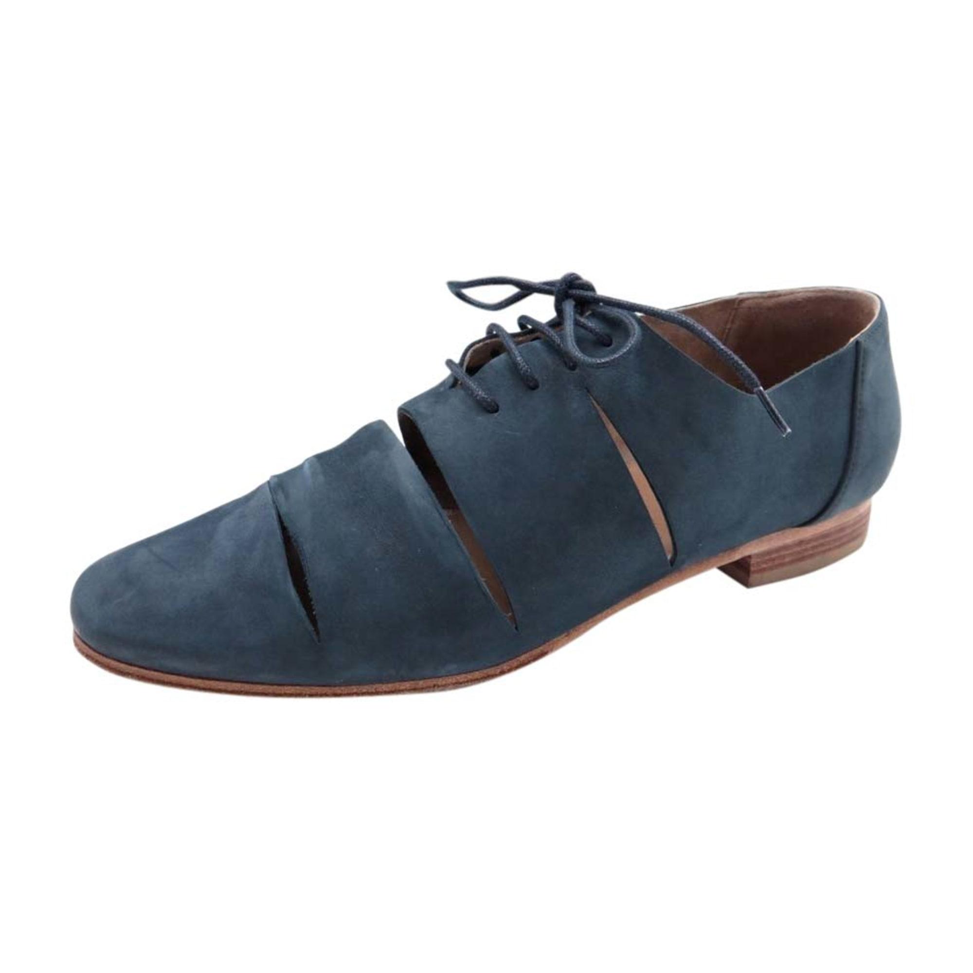 Chaussures à lacets HERMÈS Bleu, bleu marine, bleu turquoise 08f1adfe3c3