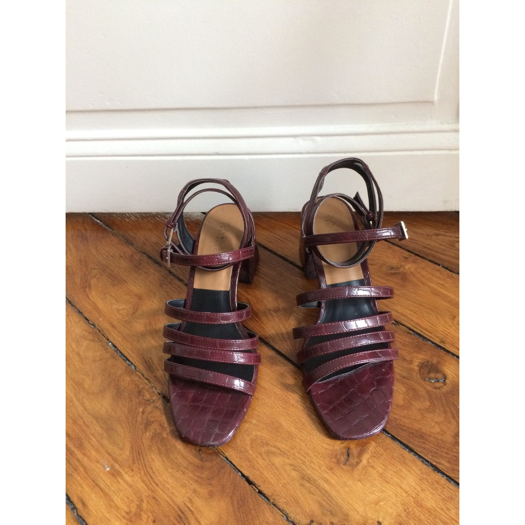 567252abd59dfd Sandales à talons ZARA 40 rouge vendu par Louise 75 - 6455113