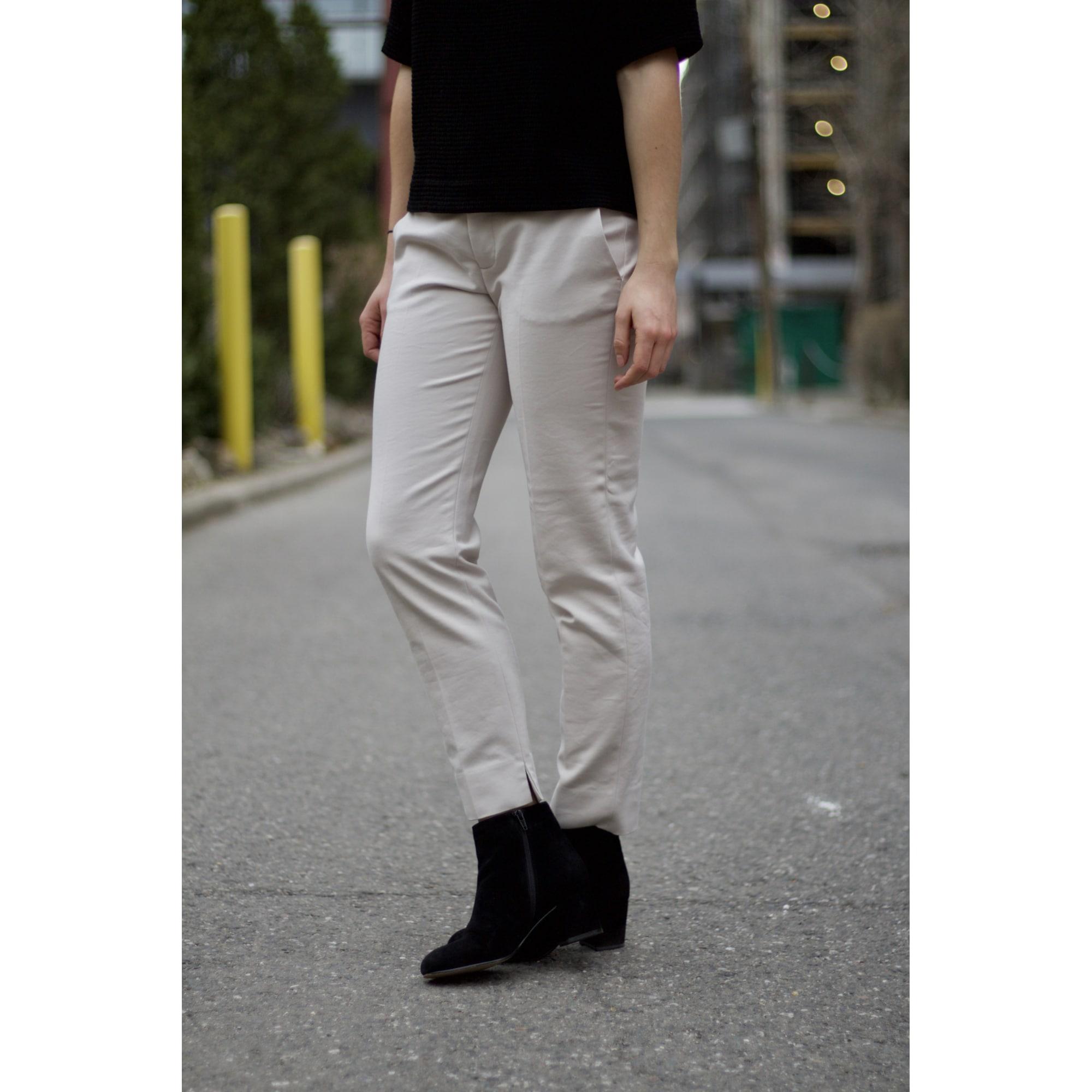 Pantalon droit ZARA Beige, camel