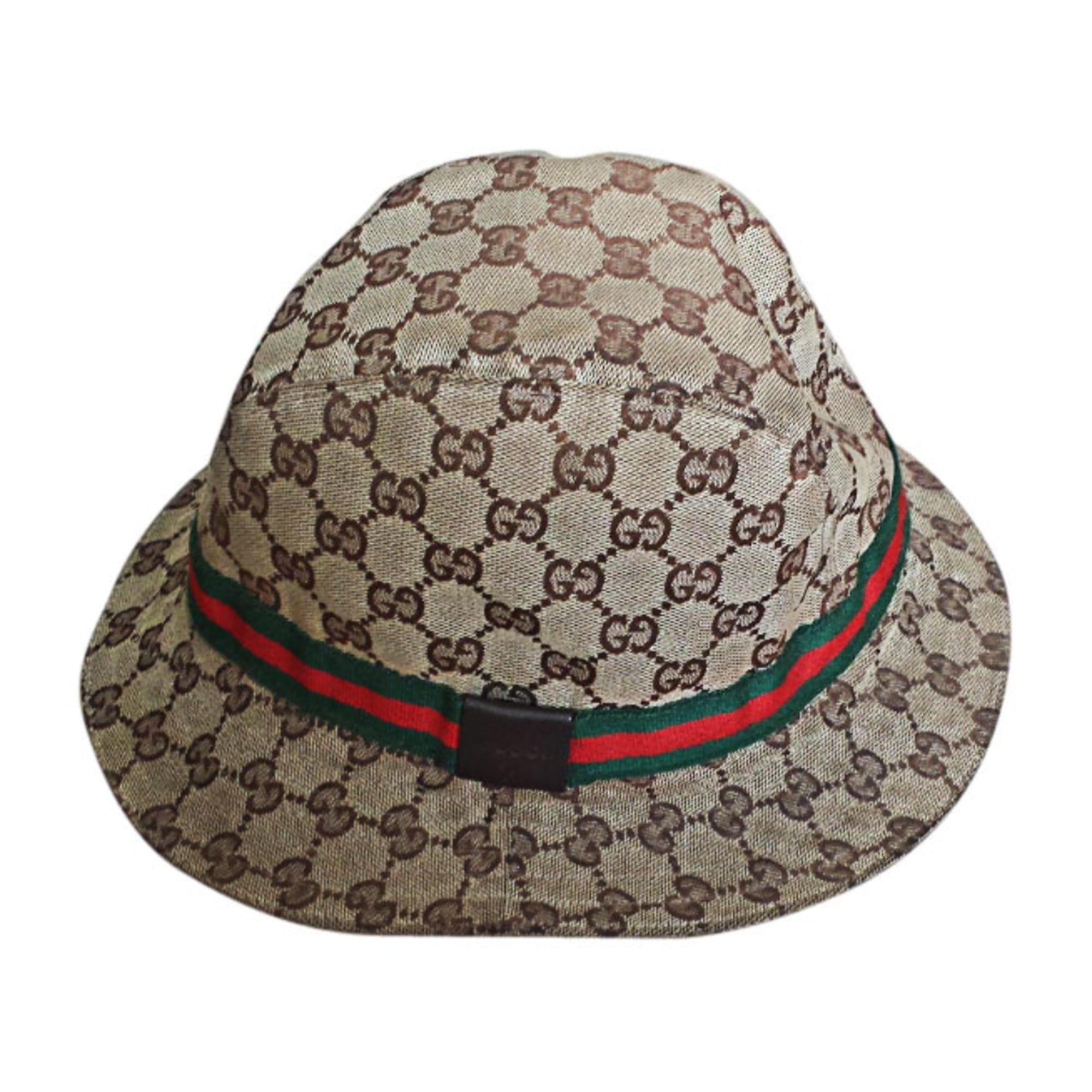958cd3e670968 Cappello di tela GUCCI Beige