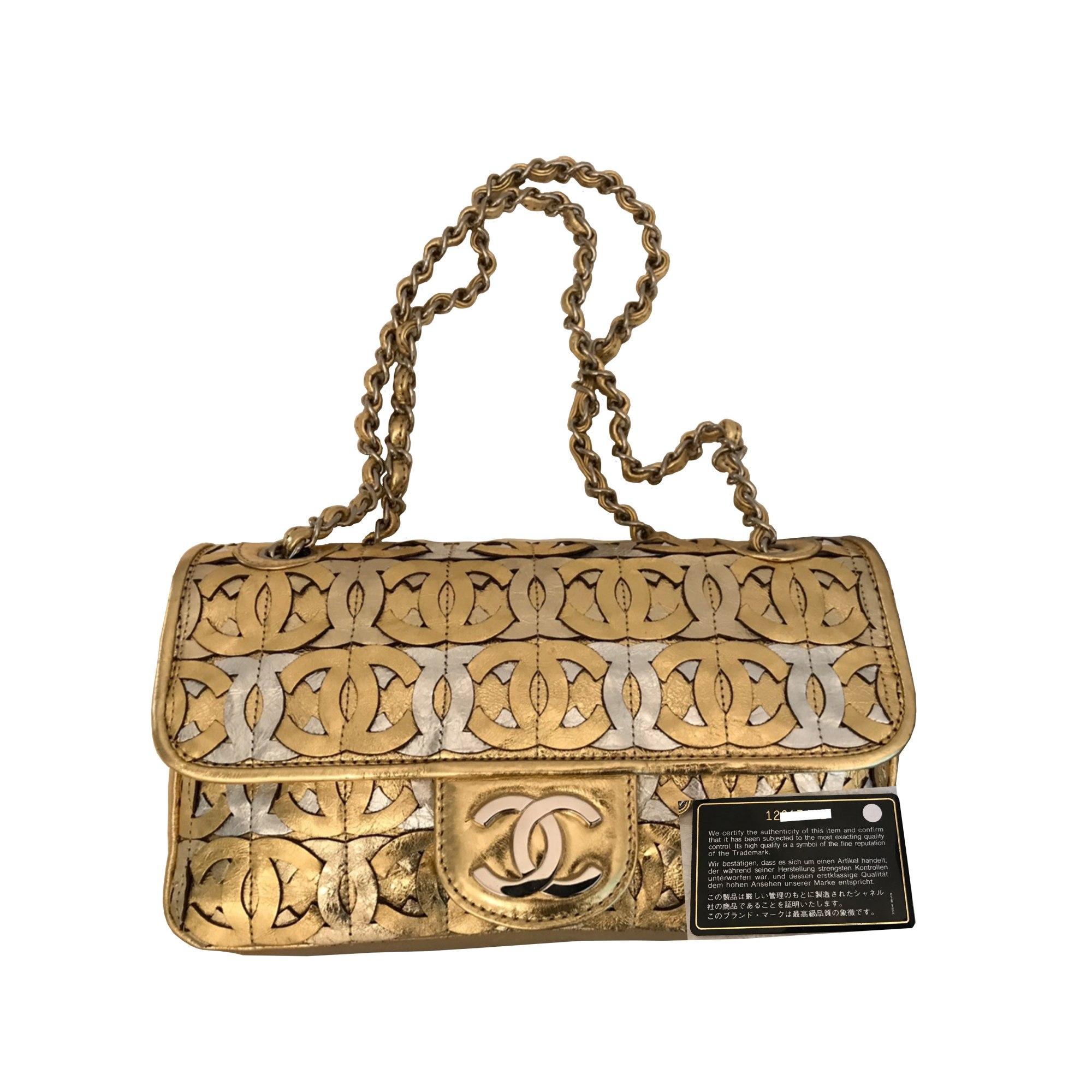b67b1e6ee3293f Sac à main en cuir CHANEL Timeless Doré, bronze, cuivre