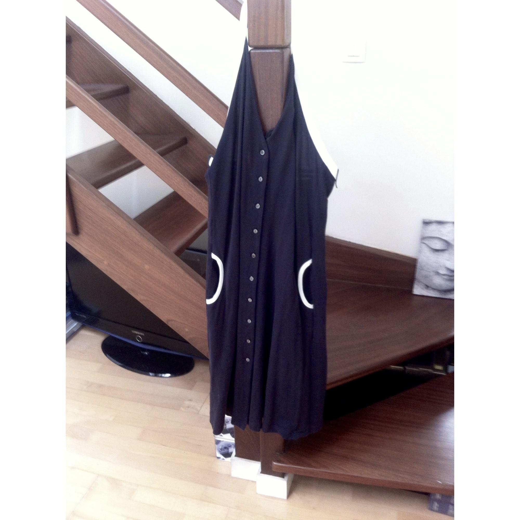 T3 6465232 Lacoste Mi Robe Noir 40 Longue l wFXWq0f