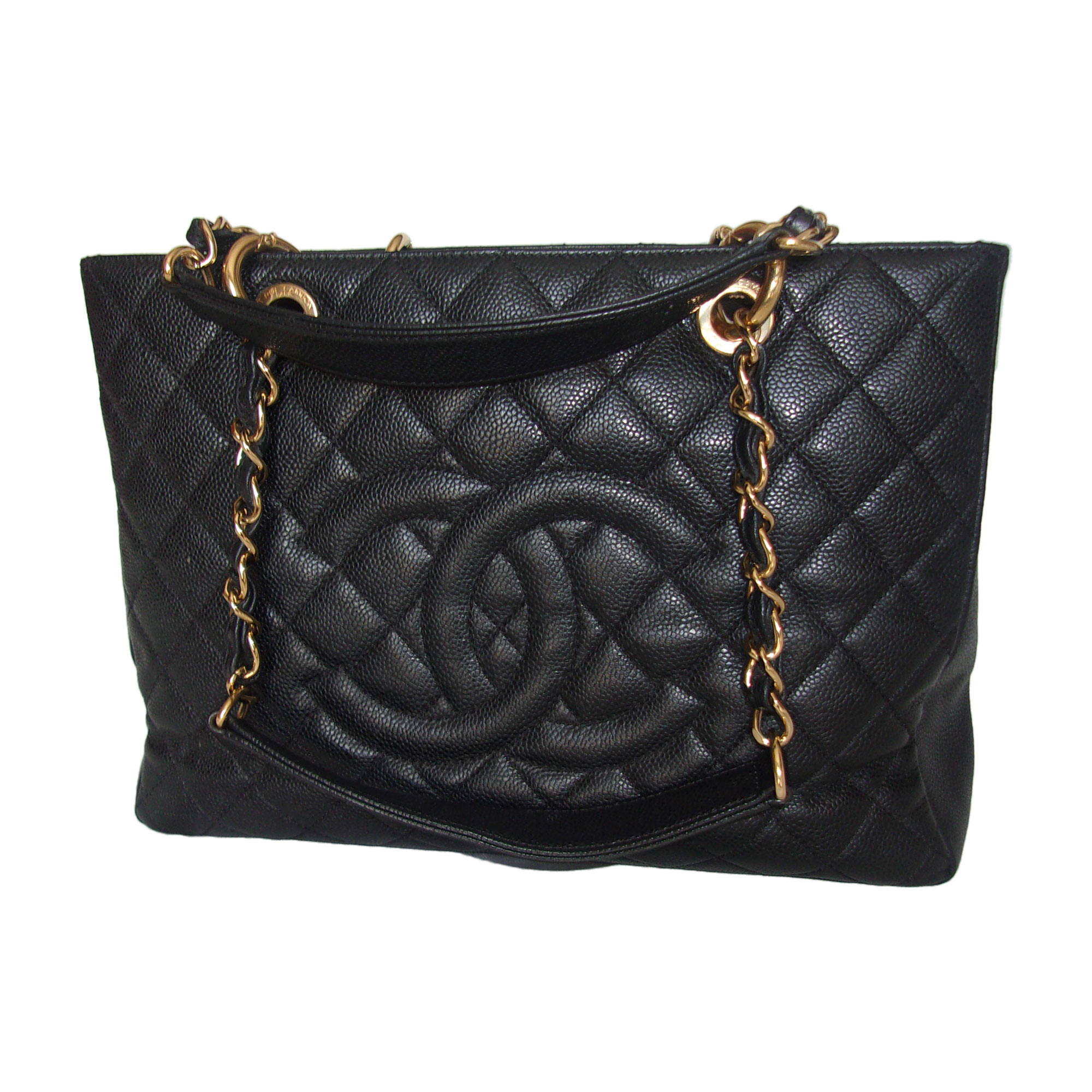Sac à main en cuir CHANEL shopping noir vendu par France mode - 6467622 6449fd82857