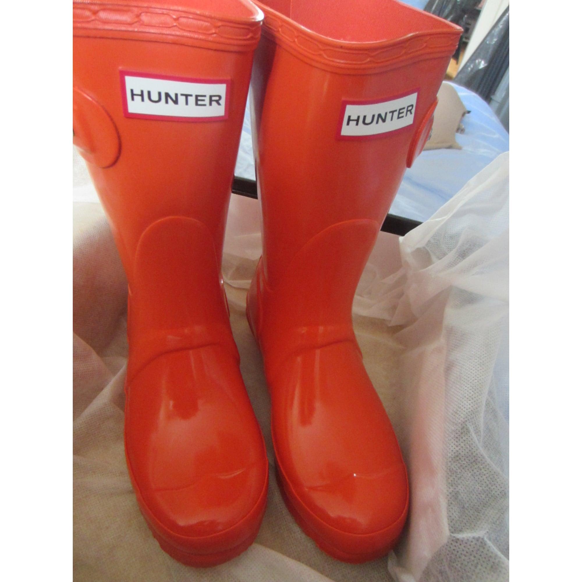 Bottes de pluie HUNTER plastique orange 36