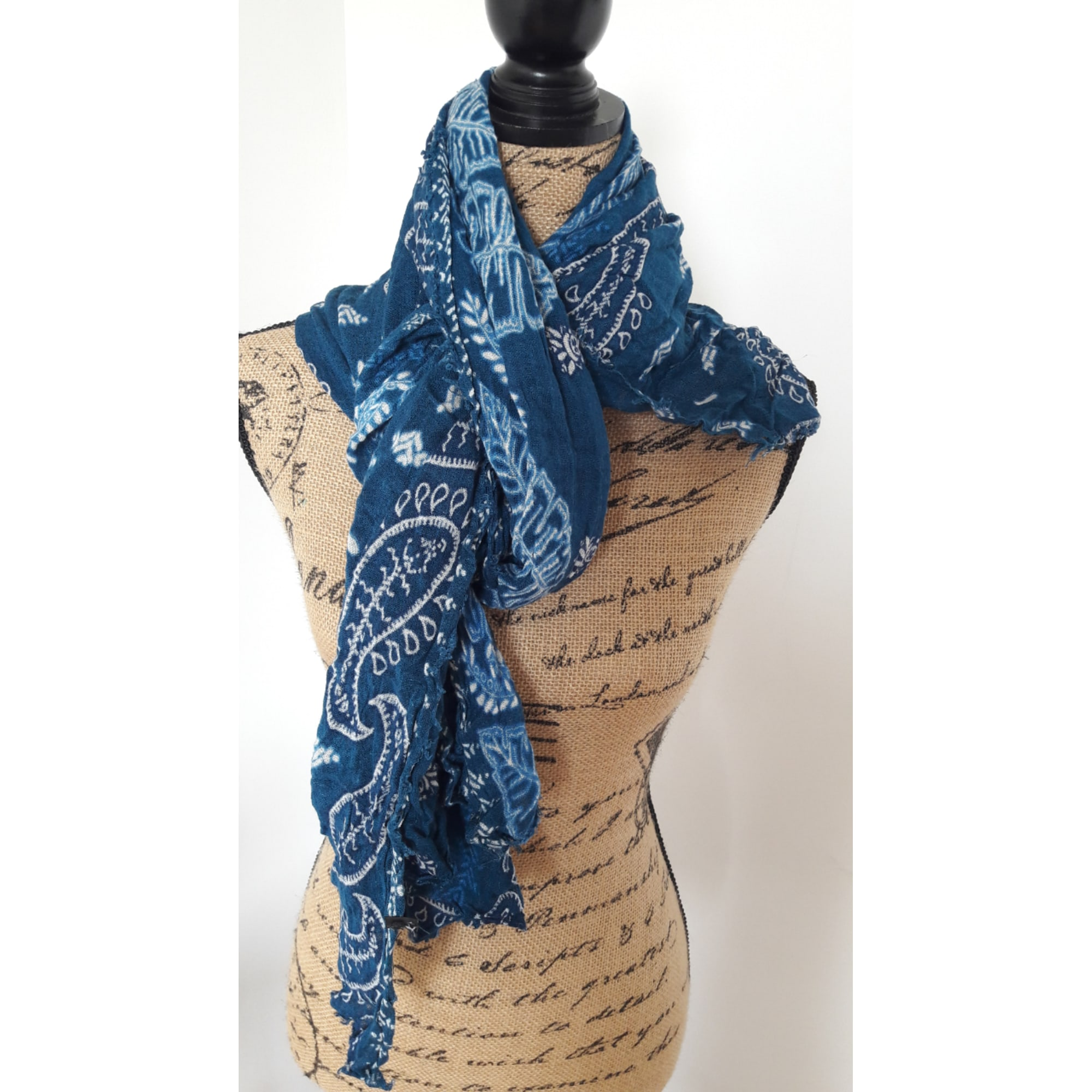 c981471930e0 Foulard ZARA Bleu, bleu marine, bleu turquoise