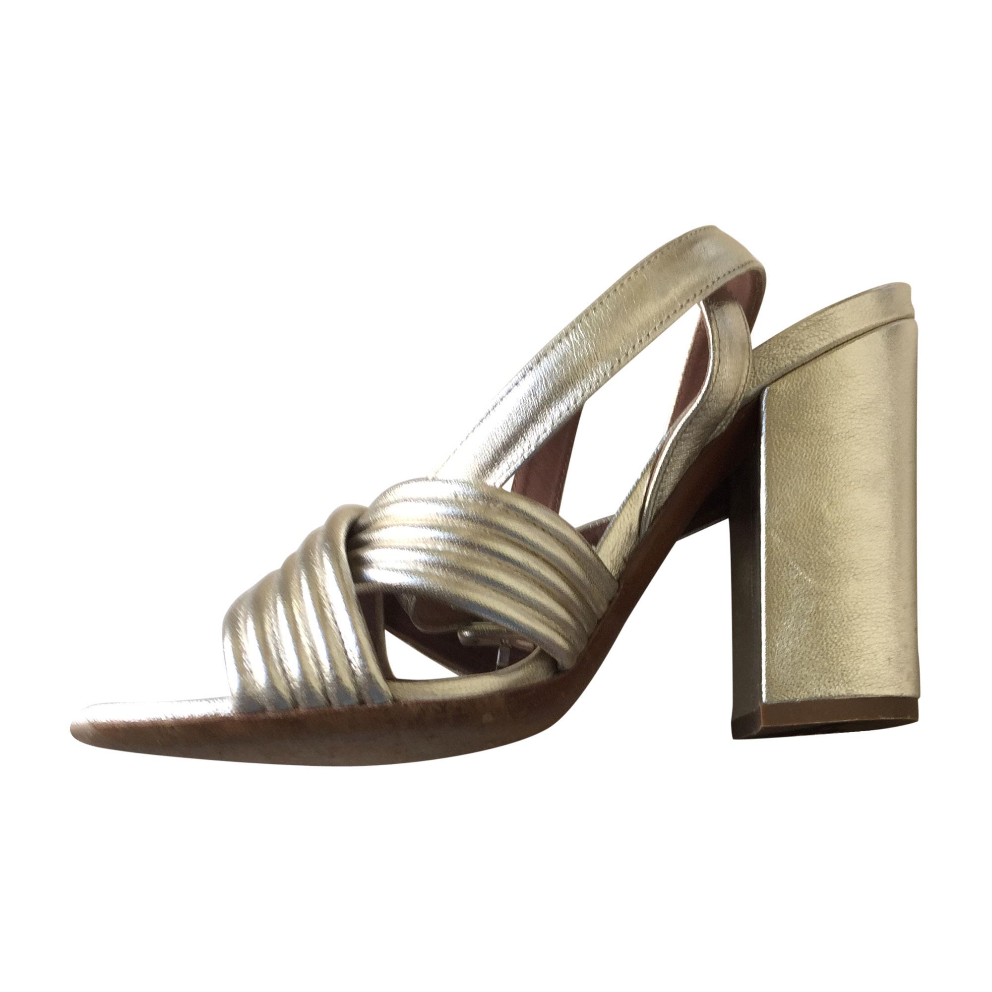 Sandales à talons TABITHA SIMMONS Doré, bronze, cuivre