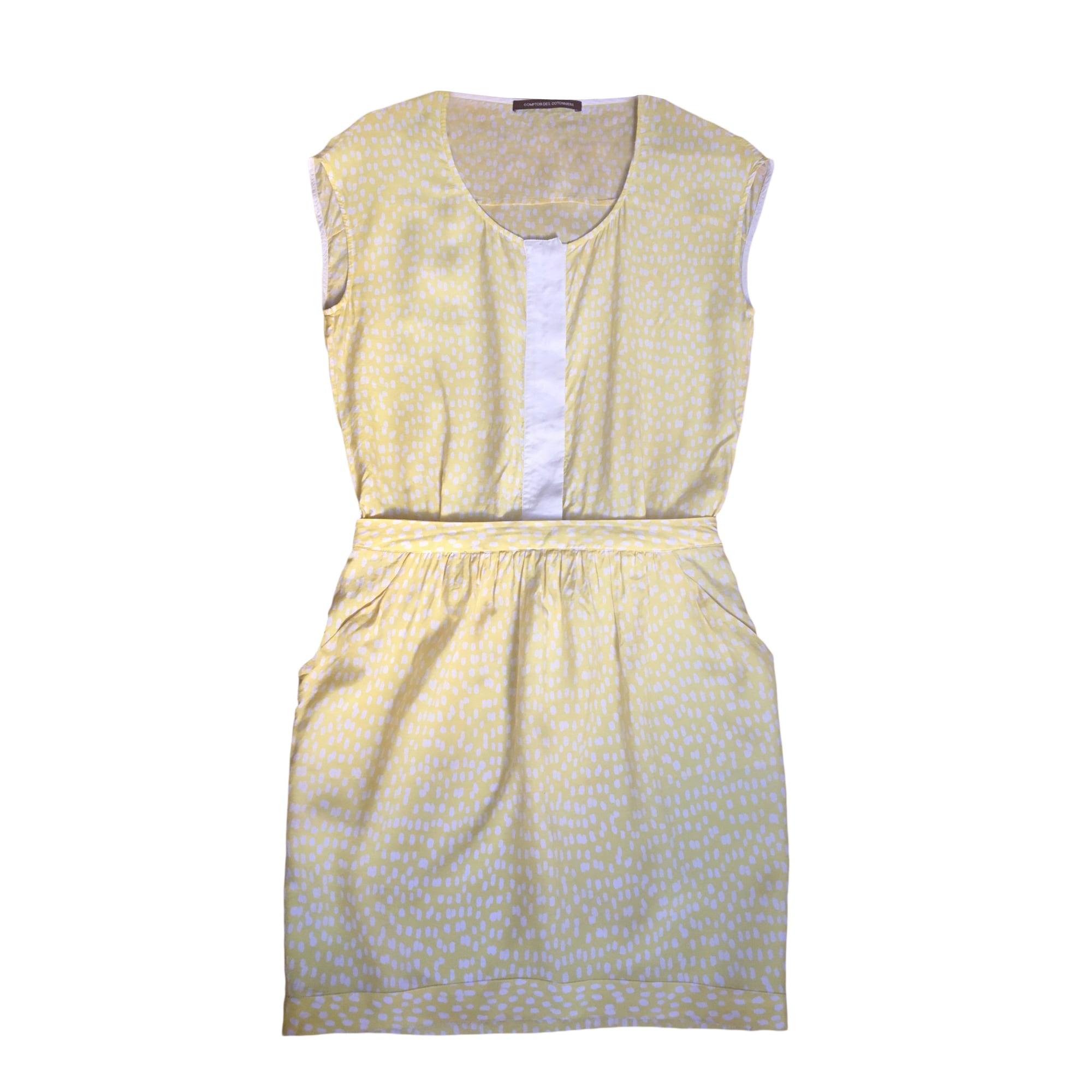 Robe mi longue comptoir des cotonniers 34 xs t0 jaune - Robe longue comptoir des cotonniers ...
