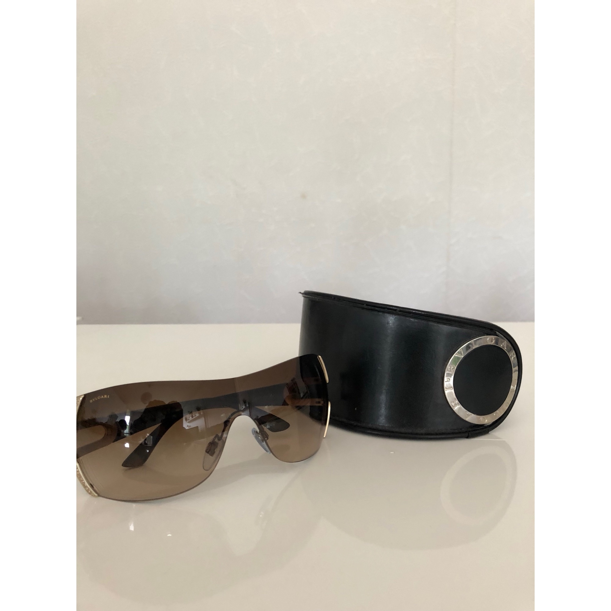 Sunglasses BULGARI Golden, bronze, copper