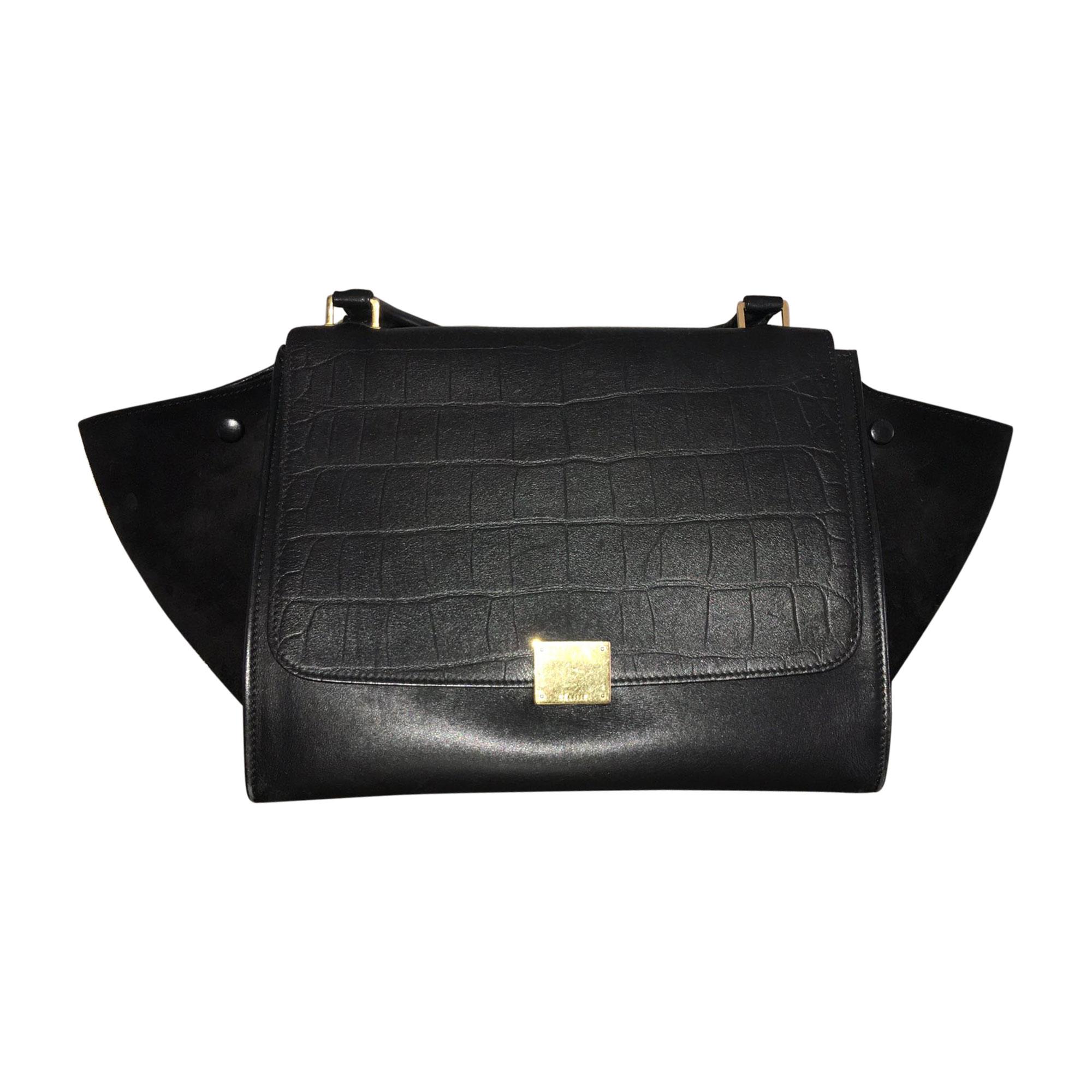 da62d7263c Sac à main en cuir CÉLINE trapze noir vendu par Chemcha156825 ...