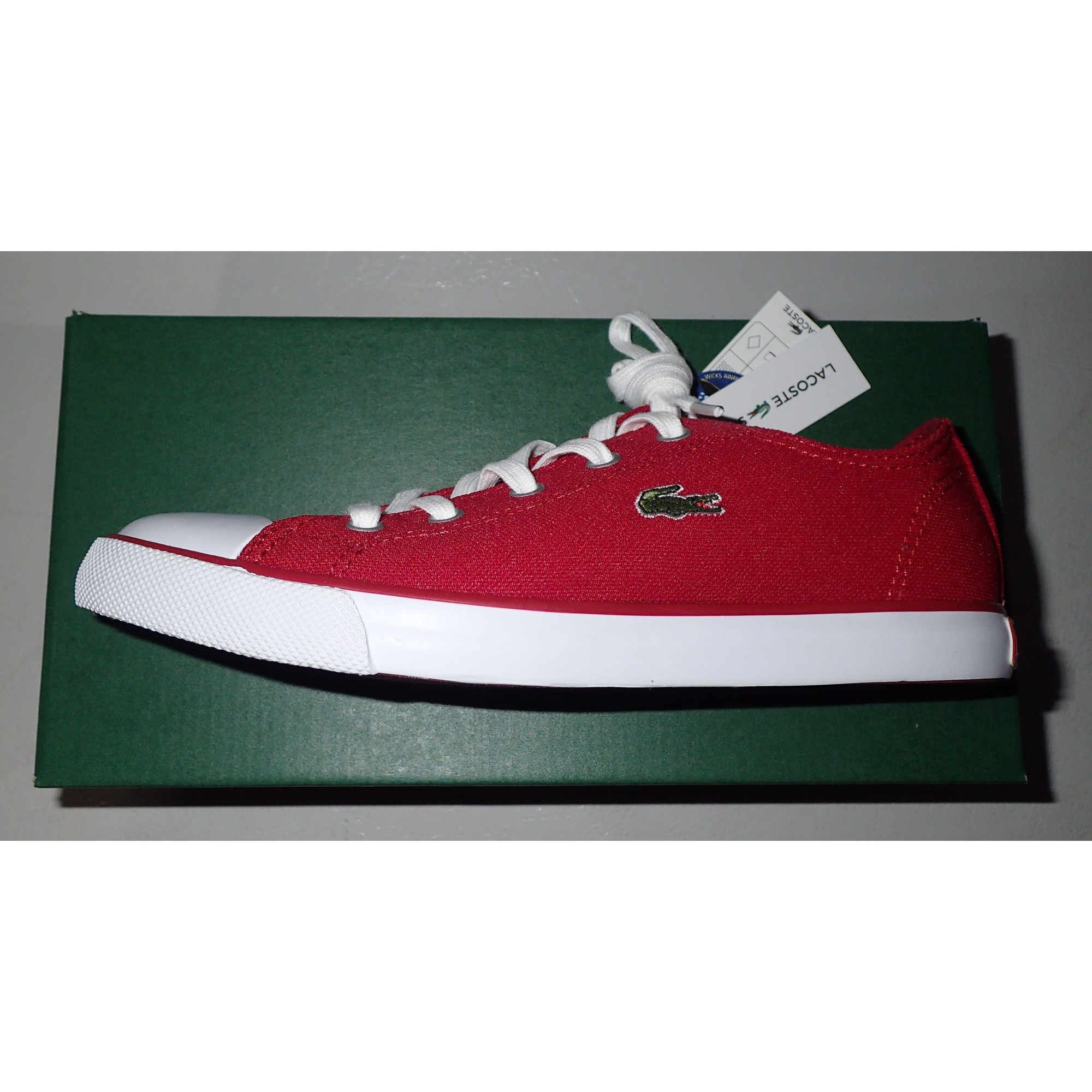 62ca30a954 Baskets LACOSTE 37,5 rouge - 6505799