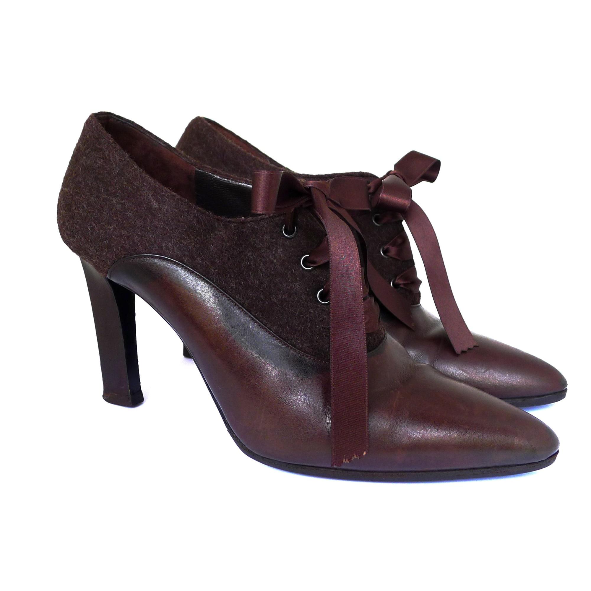 Bottines & low boots à talons FENDI Marron