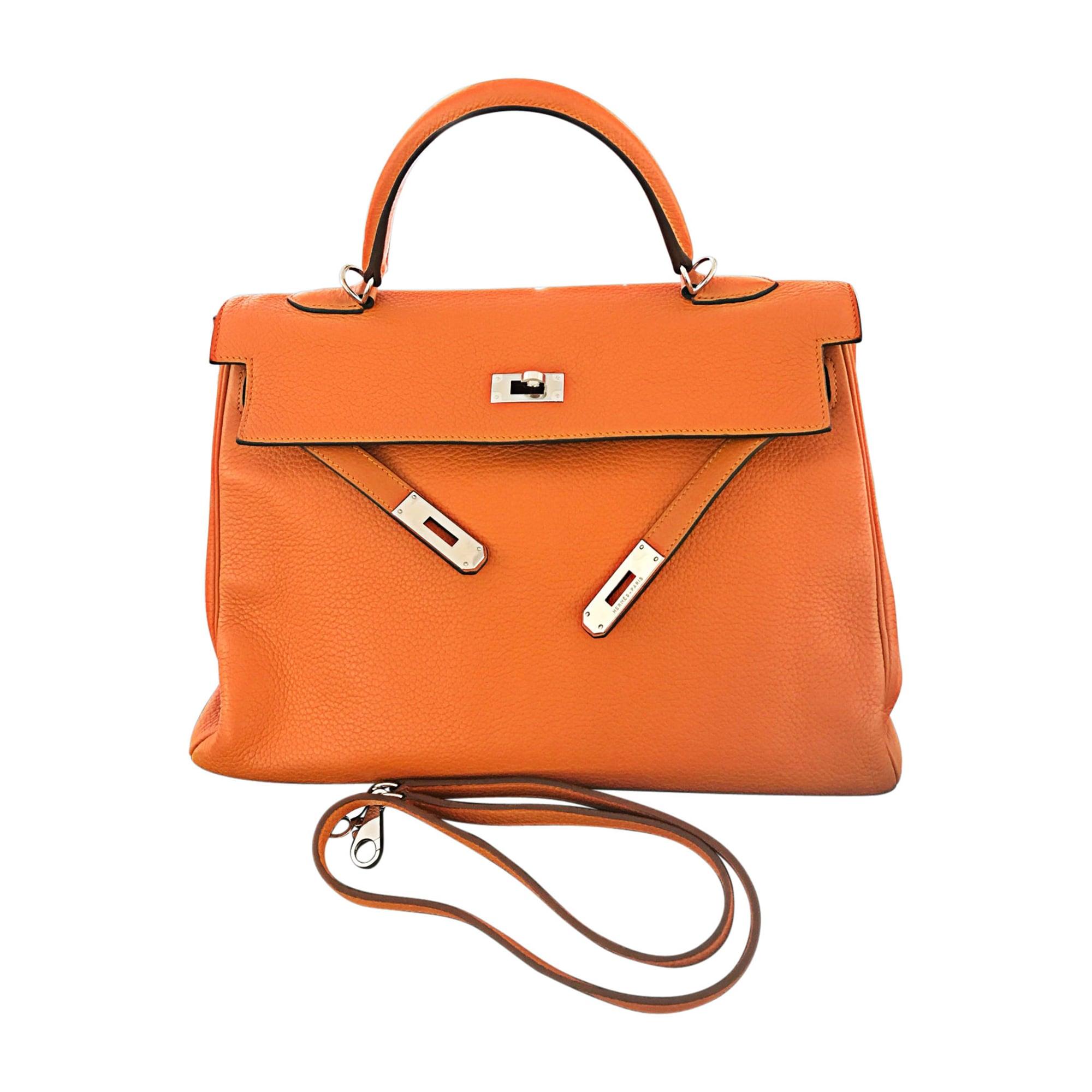 ebeb0b164f Sac à main en cuir HERMÈS kelly orange - 6520422