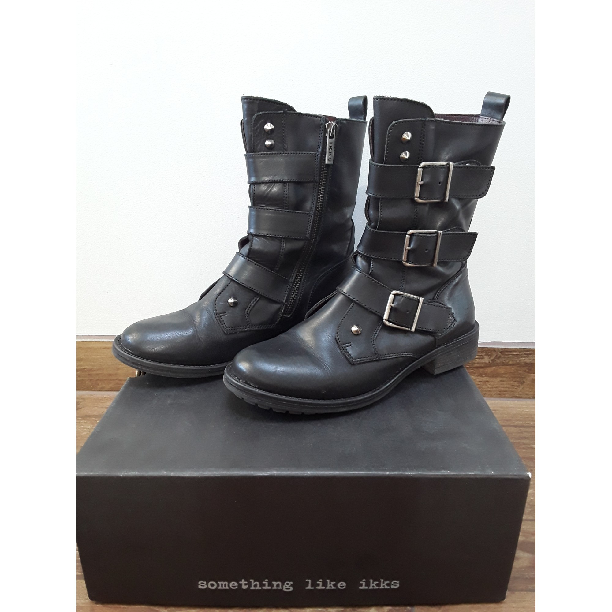 ce40bf9123e Bottines   low boots motards IKKS 39 noir vendu par Margot m. - 6521604