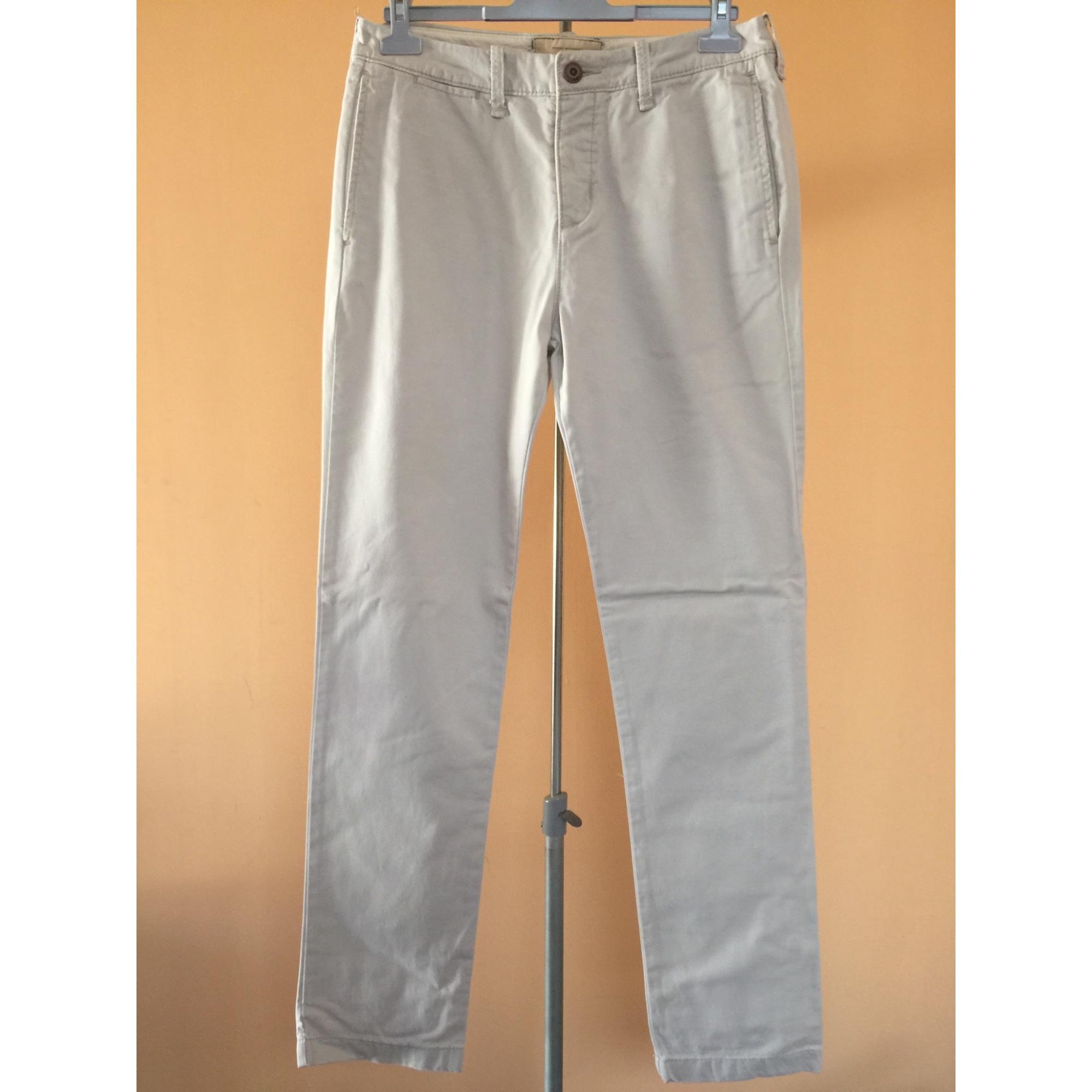 Pantalon droit HOLLISTER Beige, camel