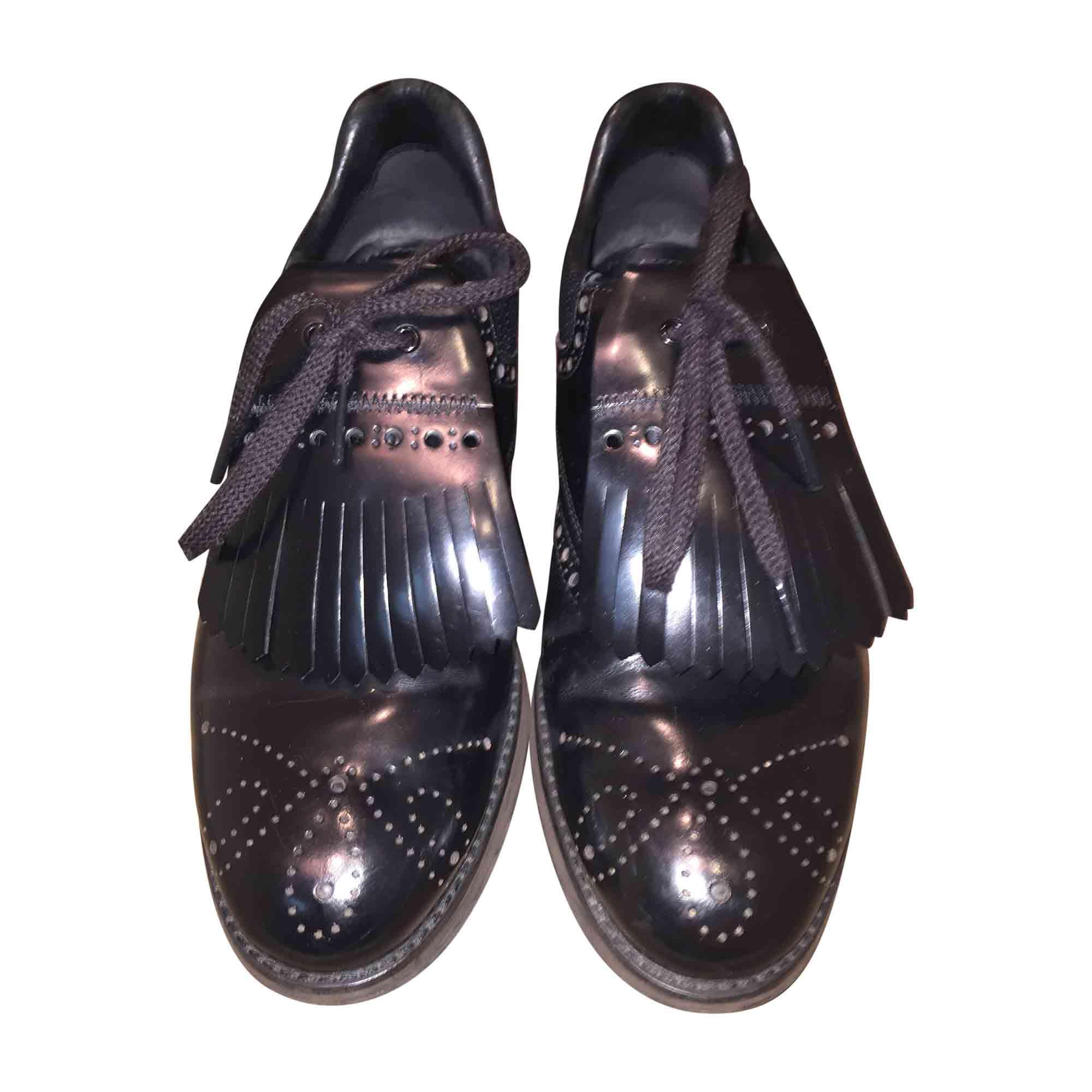 Chaussures à lacets PRADA 40,5 noir - 6528961 b0550d7fa142