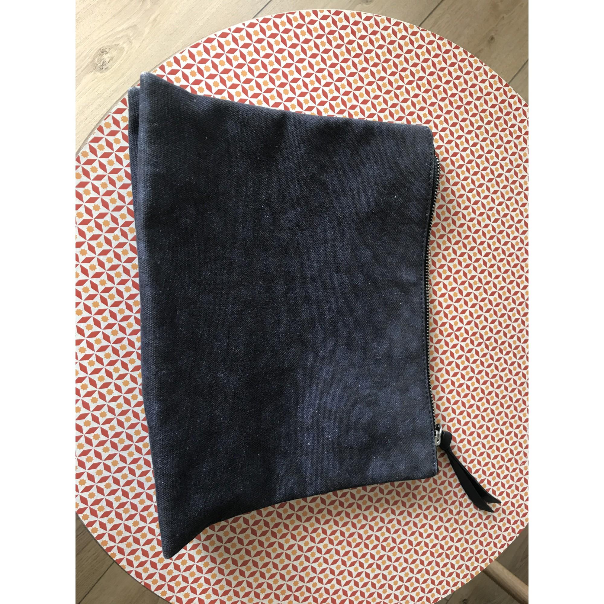 Pochette AMERICAN VINTAGE coton bleu