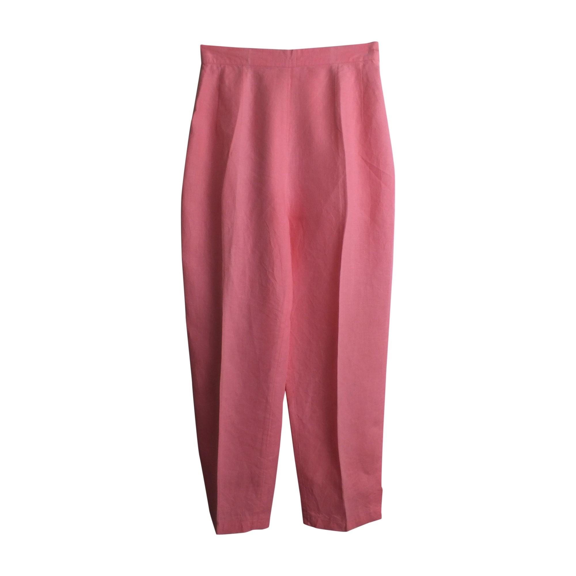 Pantalon carotte KENZO Rose, fuschia, vieux rose