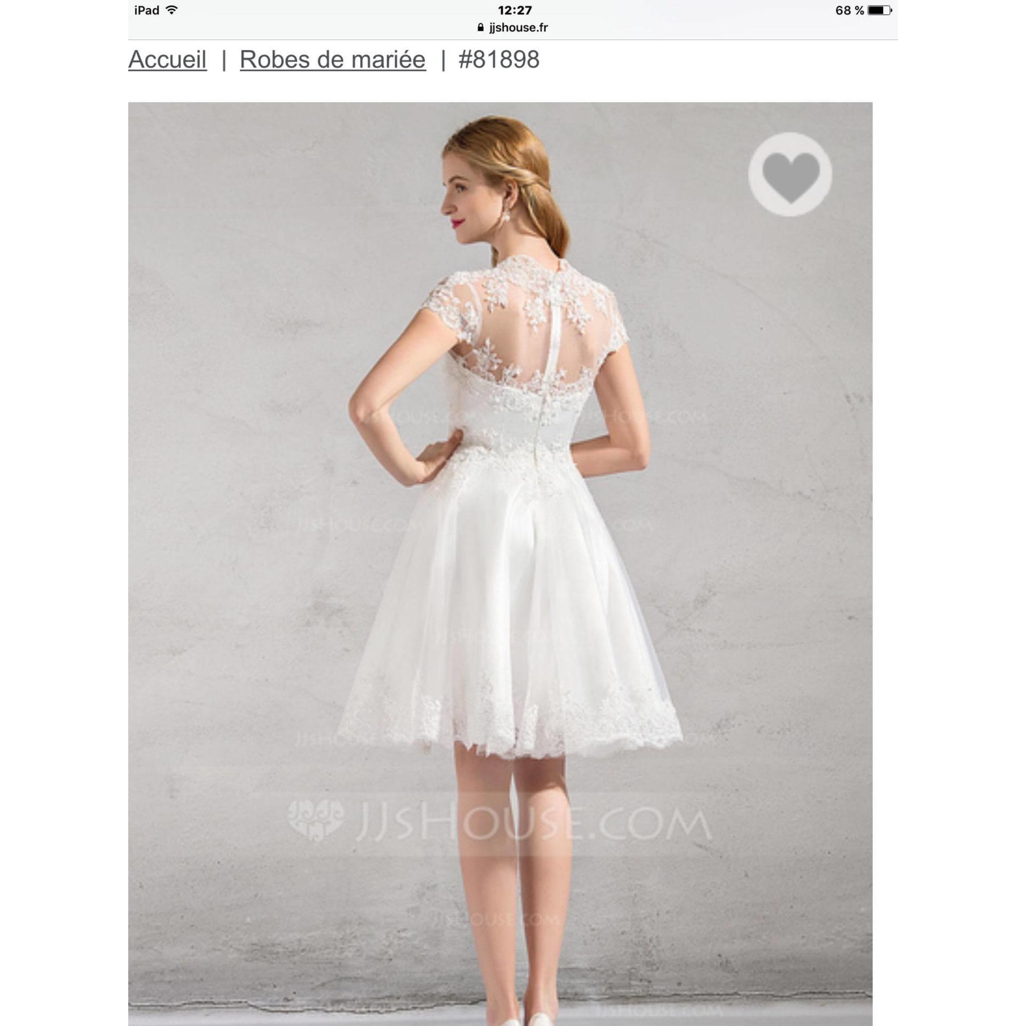 Robe de mariée JJSHOUSE 36 (S, T1) blanc vendu par Slgreen - 6539549 9c1e3348b49