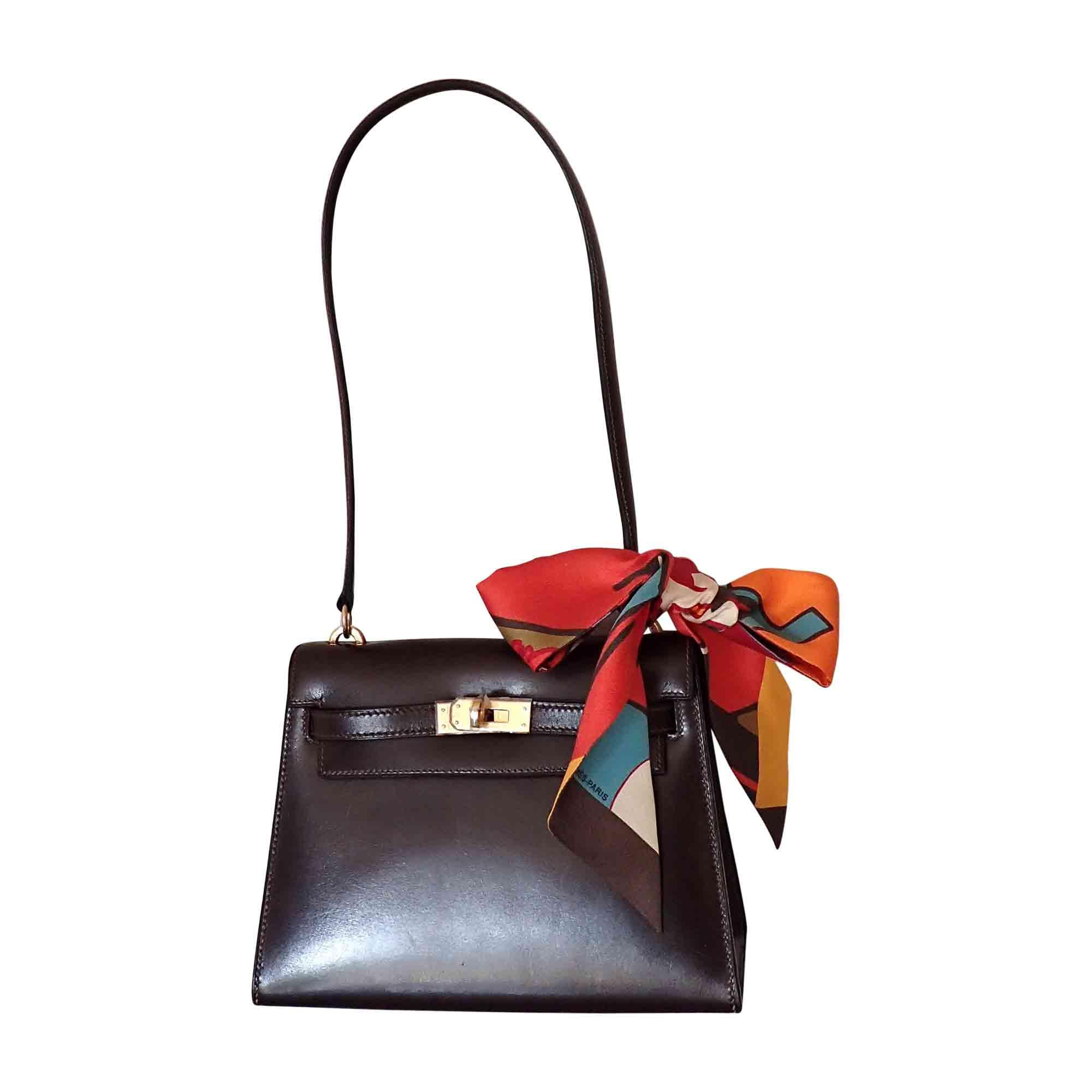 a60a88933526 Sac en bandoulière en cuir HERMÈS kelly marron - 6544815