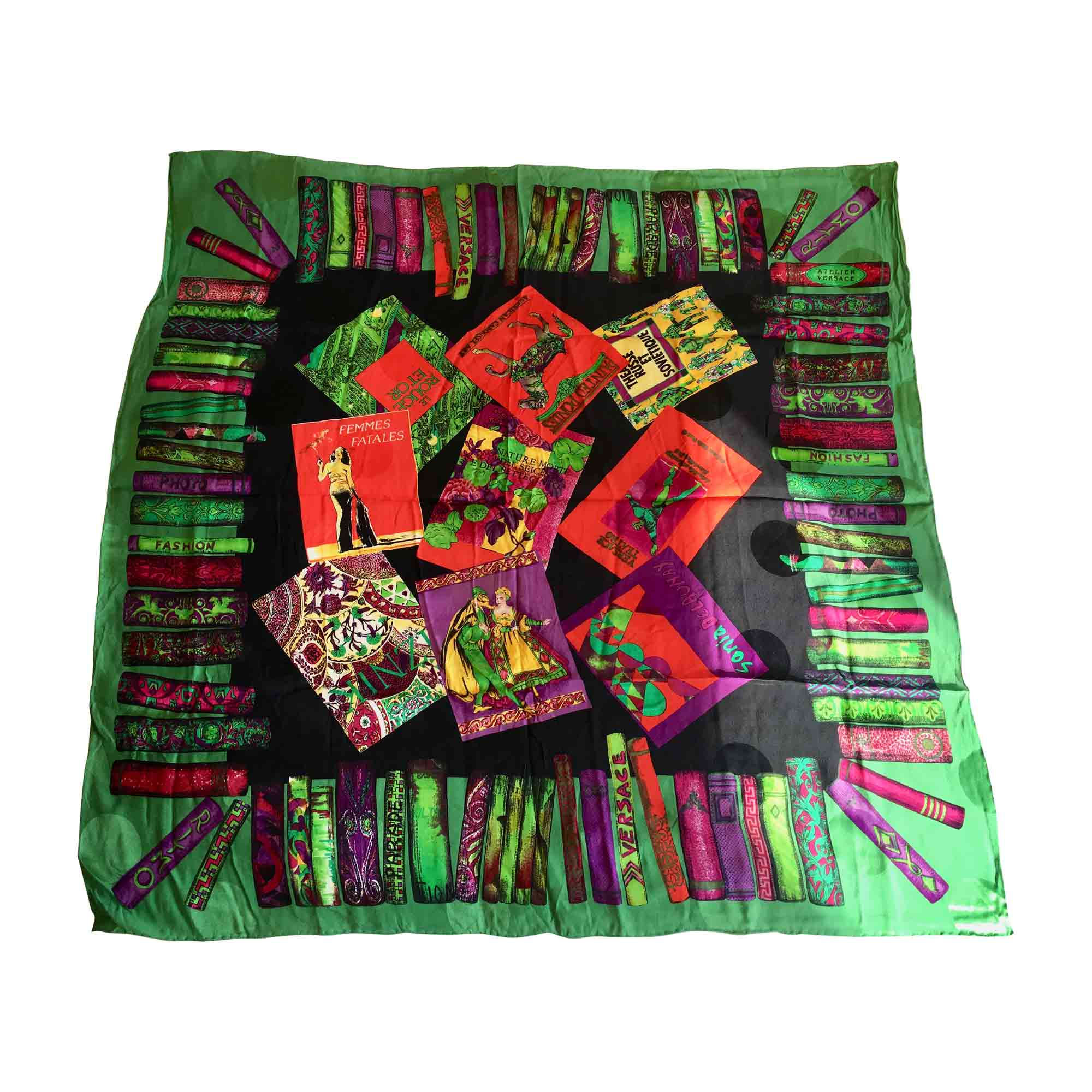 6675d854102d Foulard VERSACE vert - rouge - noir - violet - 6551827
