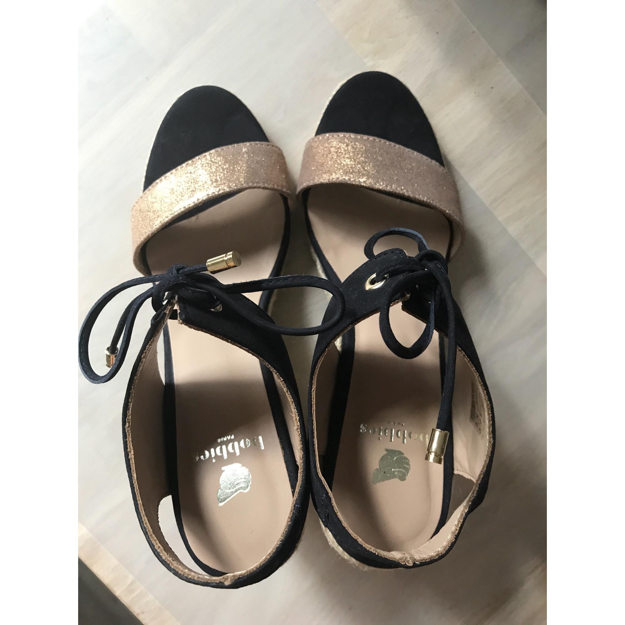 Bleu Sandales Compensées 6559989 37 Bobbies 0PNnkX8wO