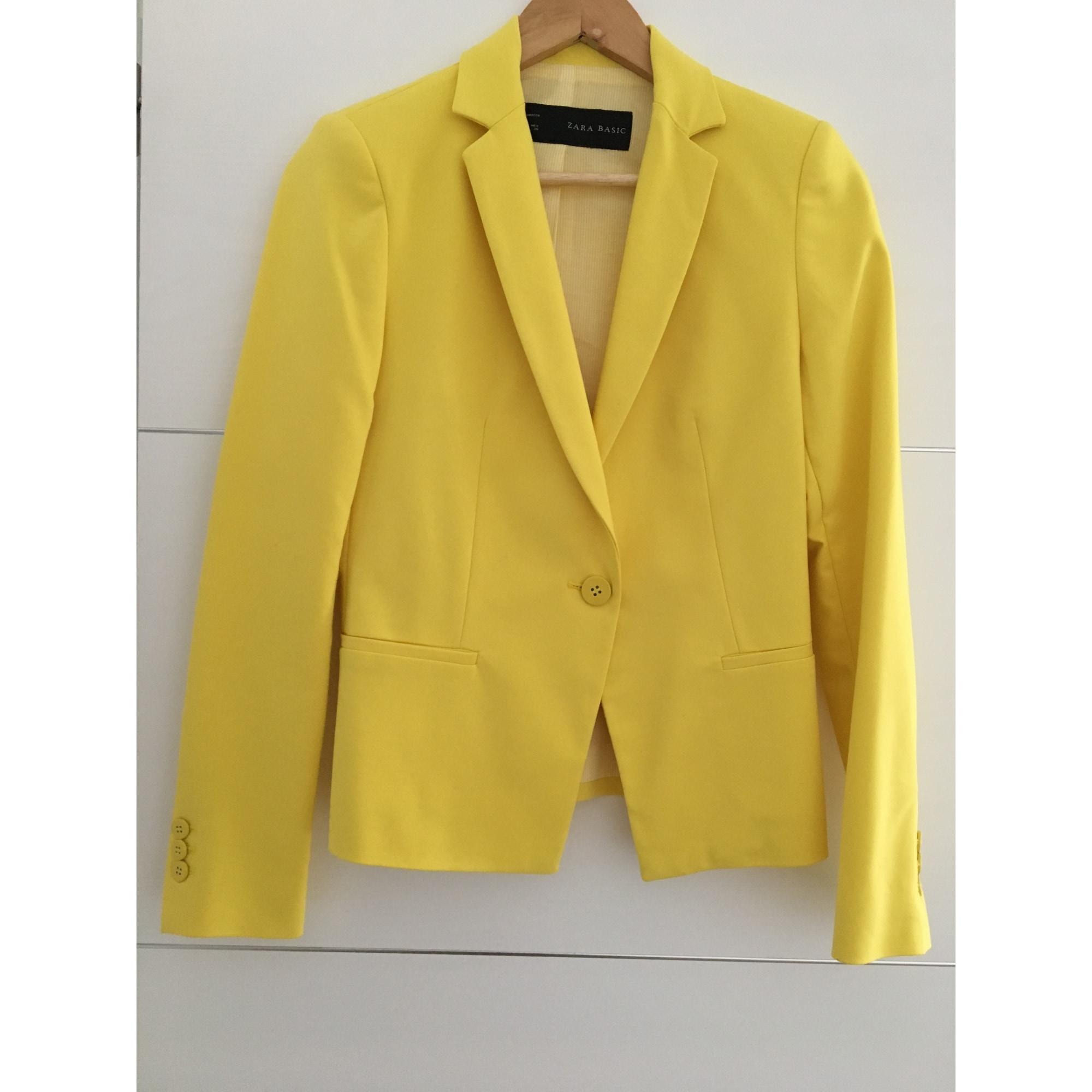 Veste de tailleur jaune