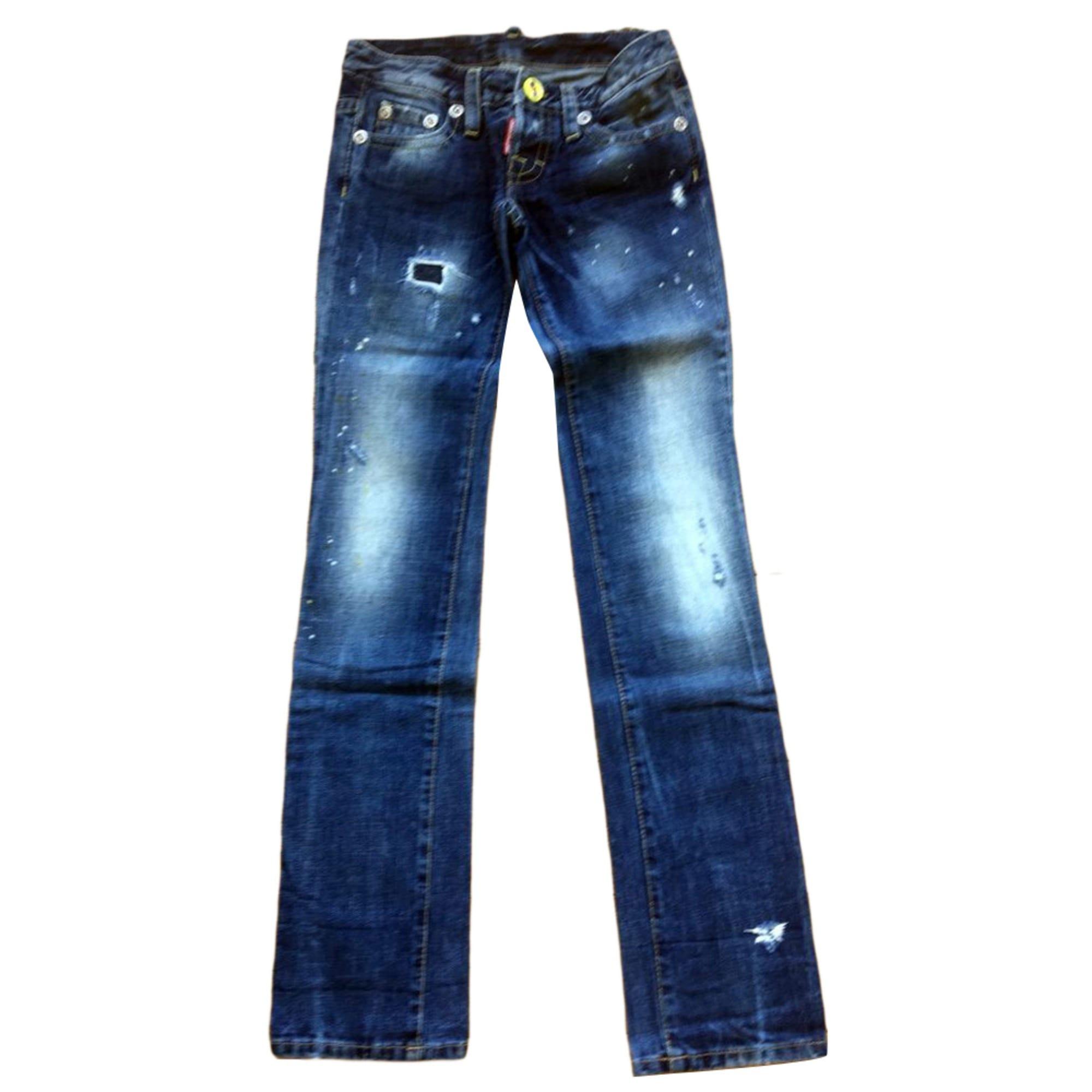 Jeans droit DSQUARED2 Bleu, bleu marine, bleu turquoise 3ec77803762