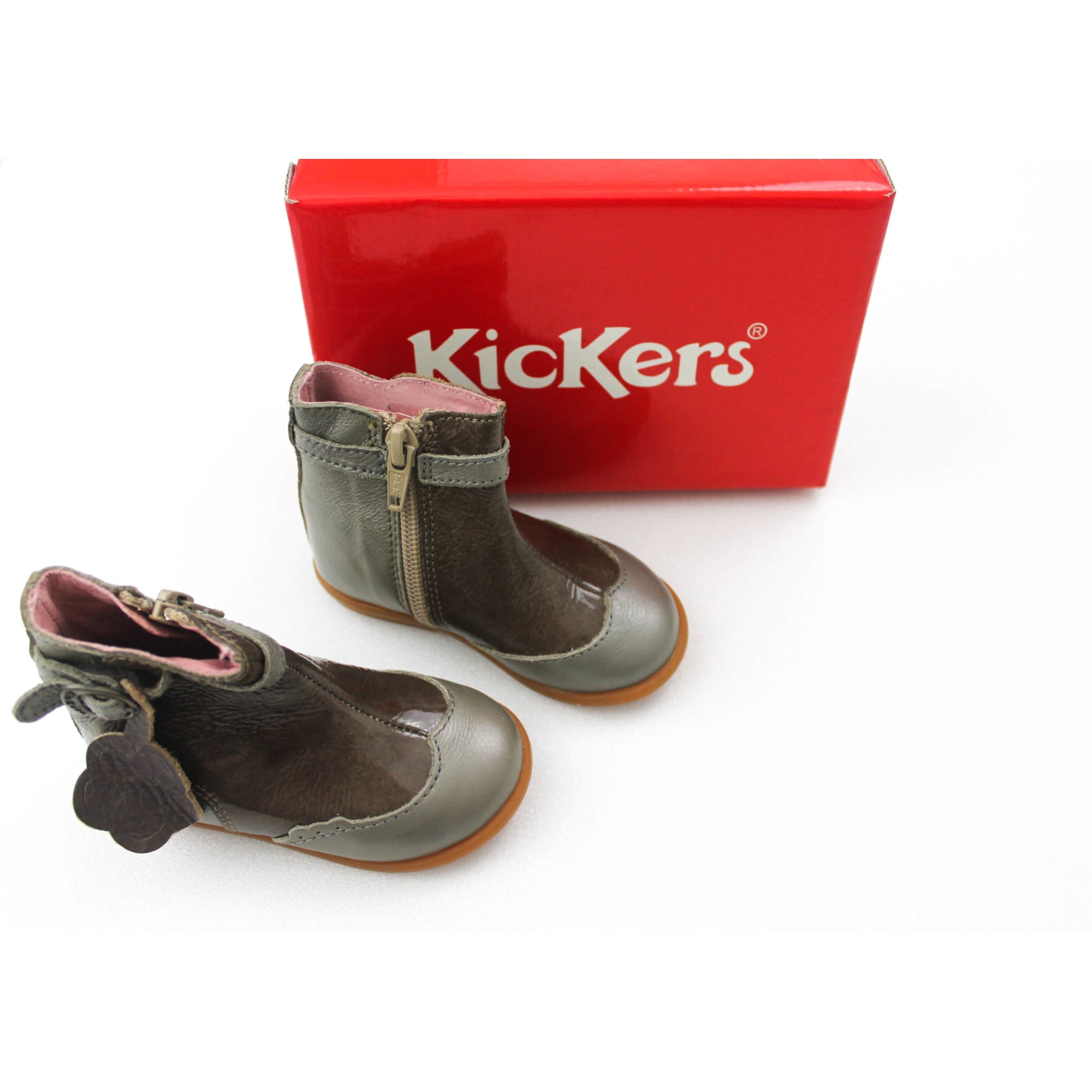53728c49d77 Bottines KICKERS 12 mois gris perle - 6576183