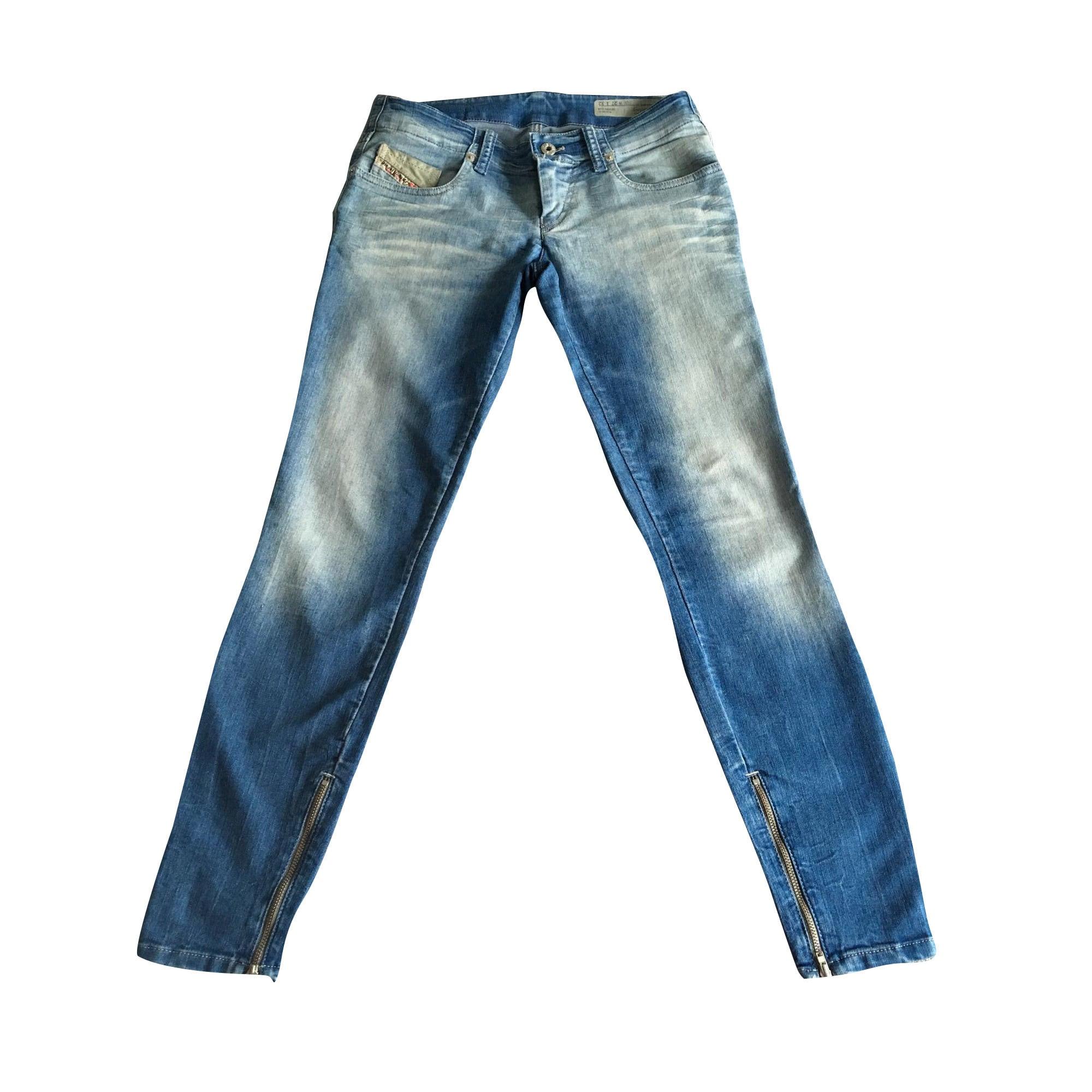 7f71dfc3 Jeans slim DIESEL W27 (T 36) bleu vendu par Aurelie 4533 - 6578723
