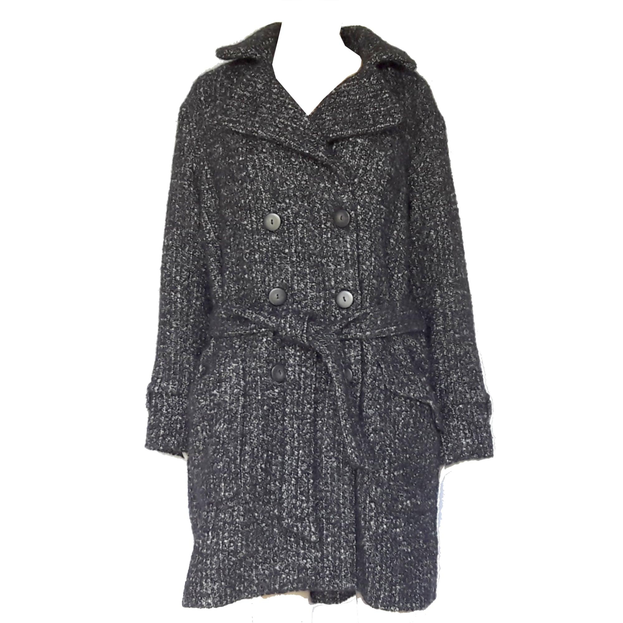 Manteau comptoir des cotonniers 40 l t3 noir chin - Comptoir des cotonniers ch ...