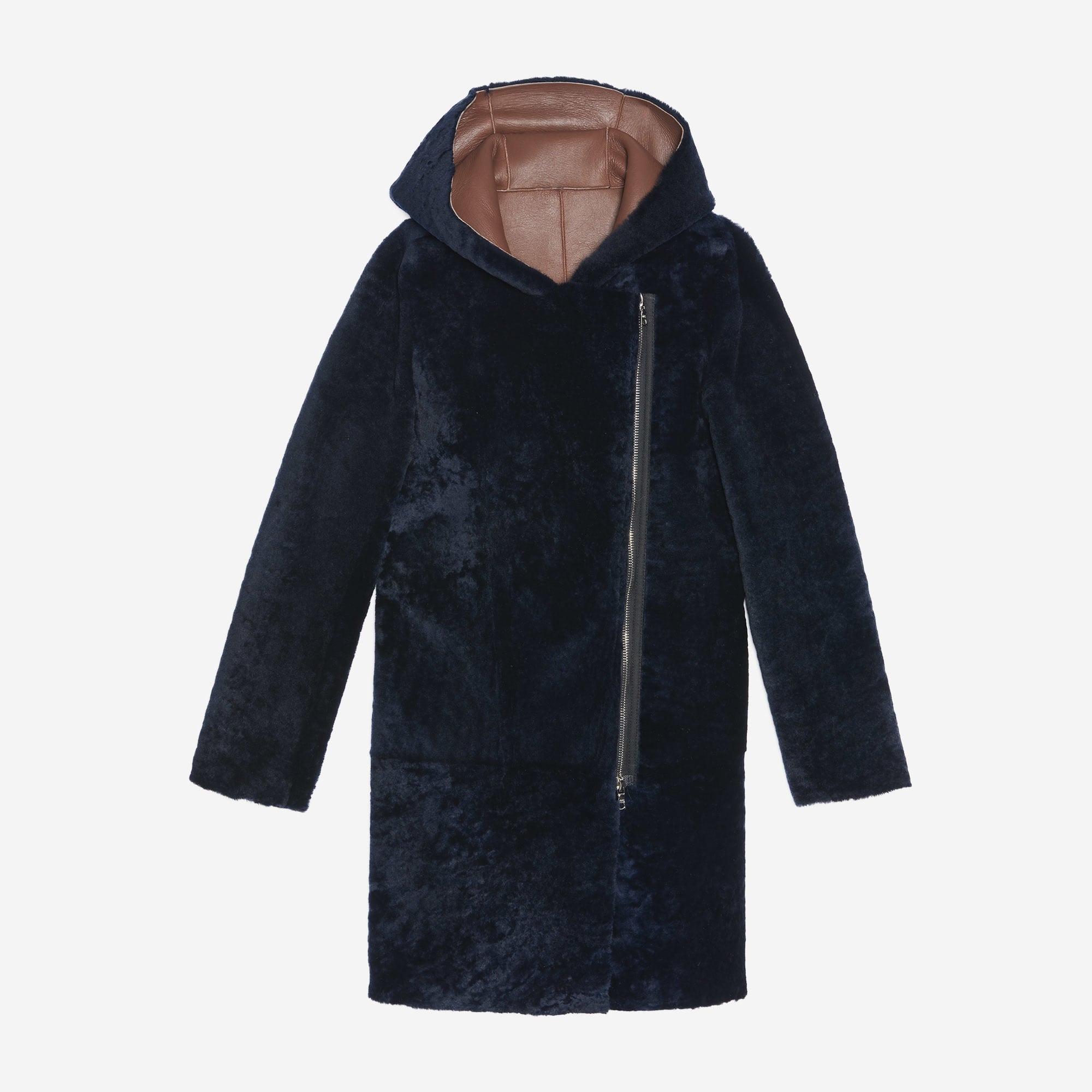 Manteau en fourrure SANDRO 36 (S, T1) bleu vendu par Carlaulrh - 6584819 53342903886