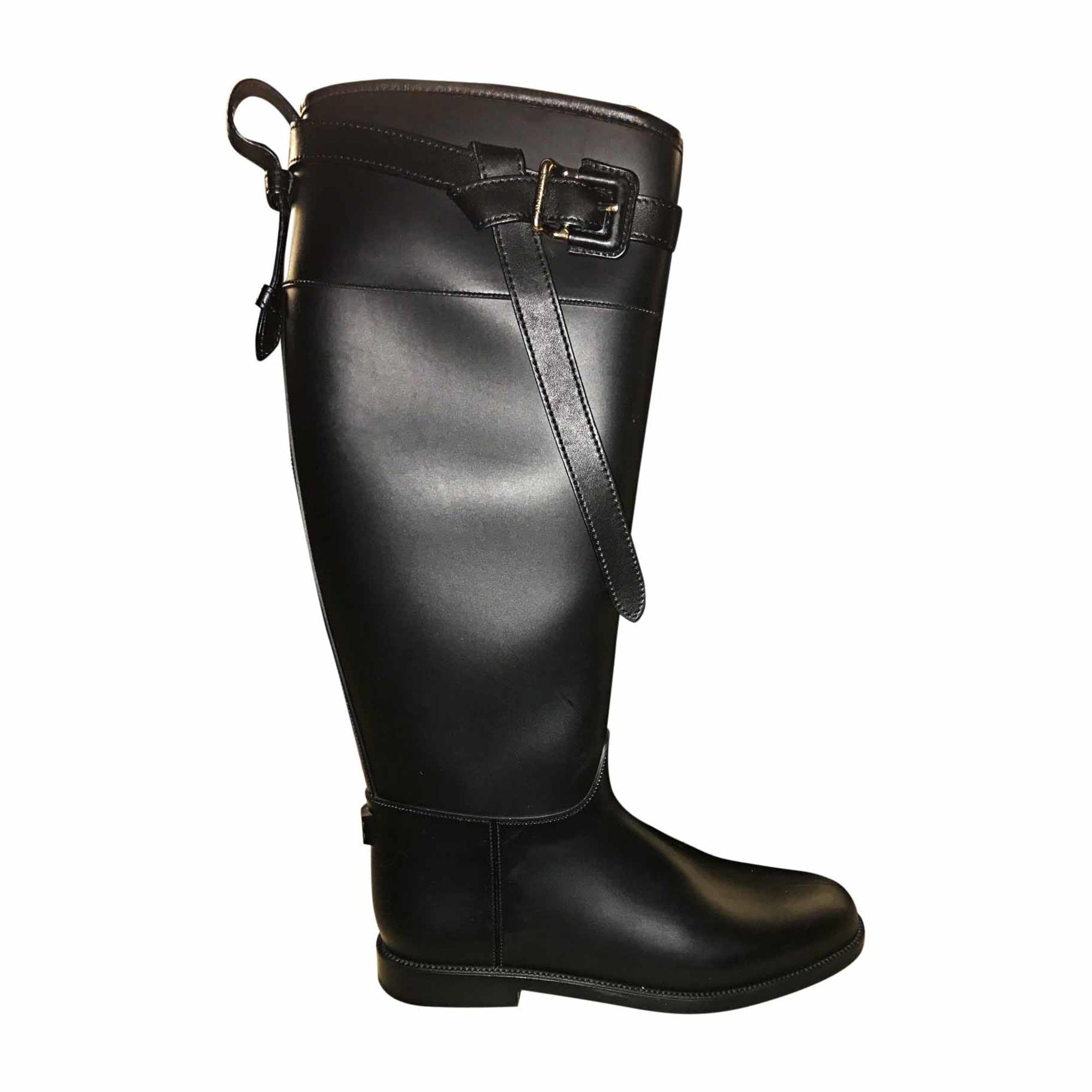 cb136e815d7fa Bottes de pluie BURBERRY 41 noir - 6587901