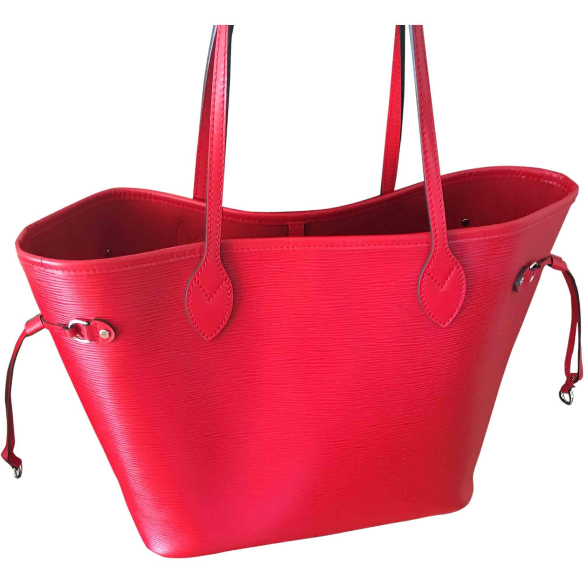 Leather Handbag LOUIS VUITTON Red, burgundy