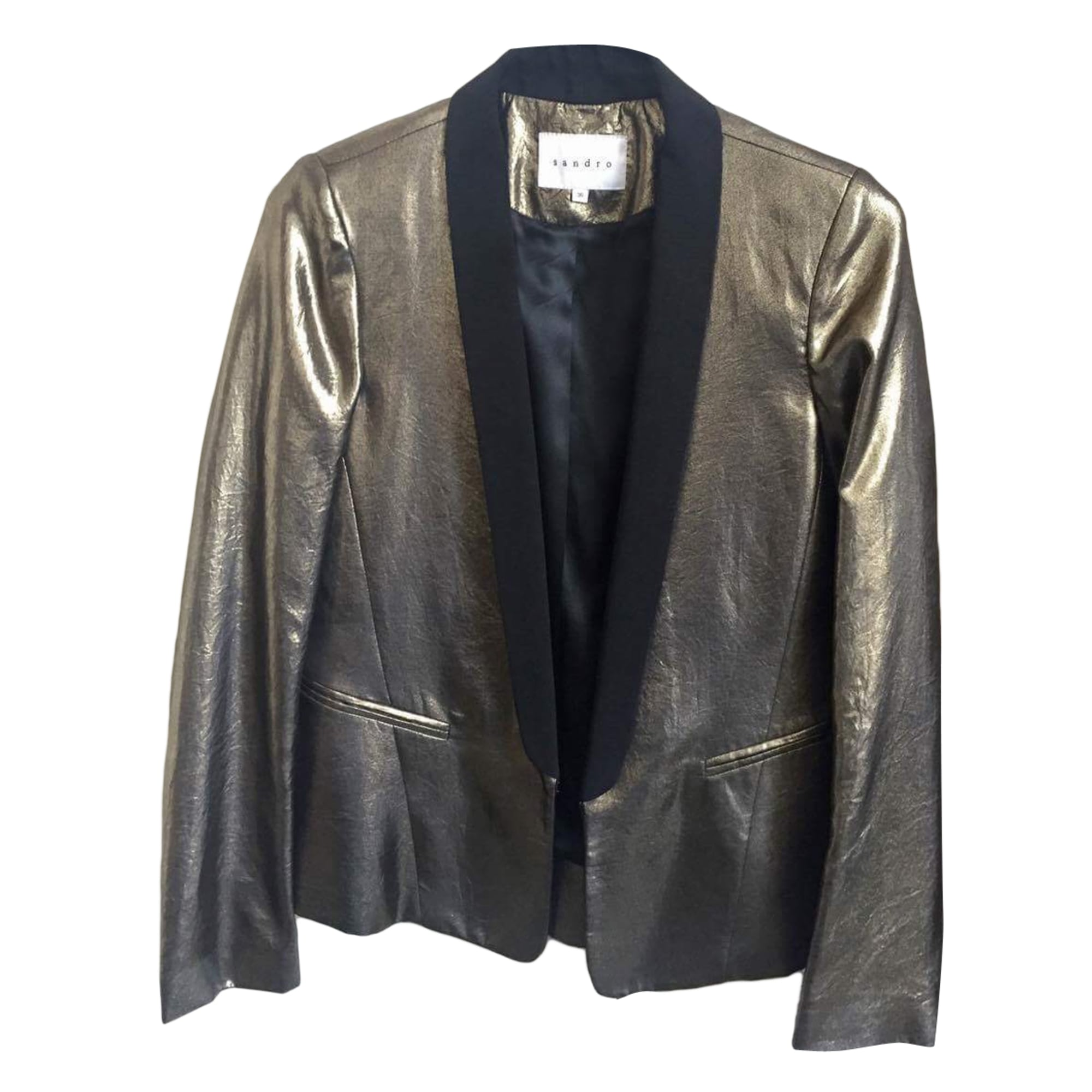 Blazer SANDRO Golden, bronze, copper