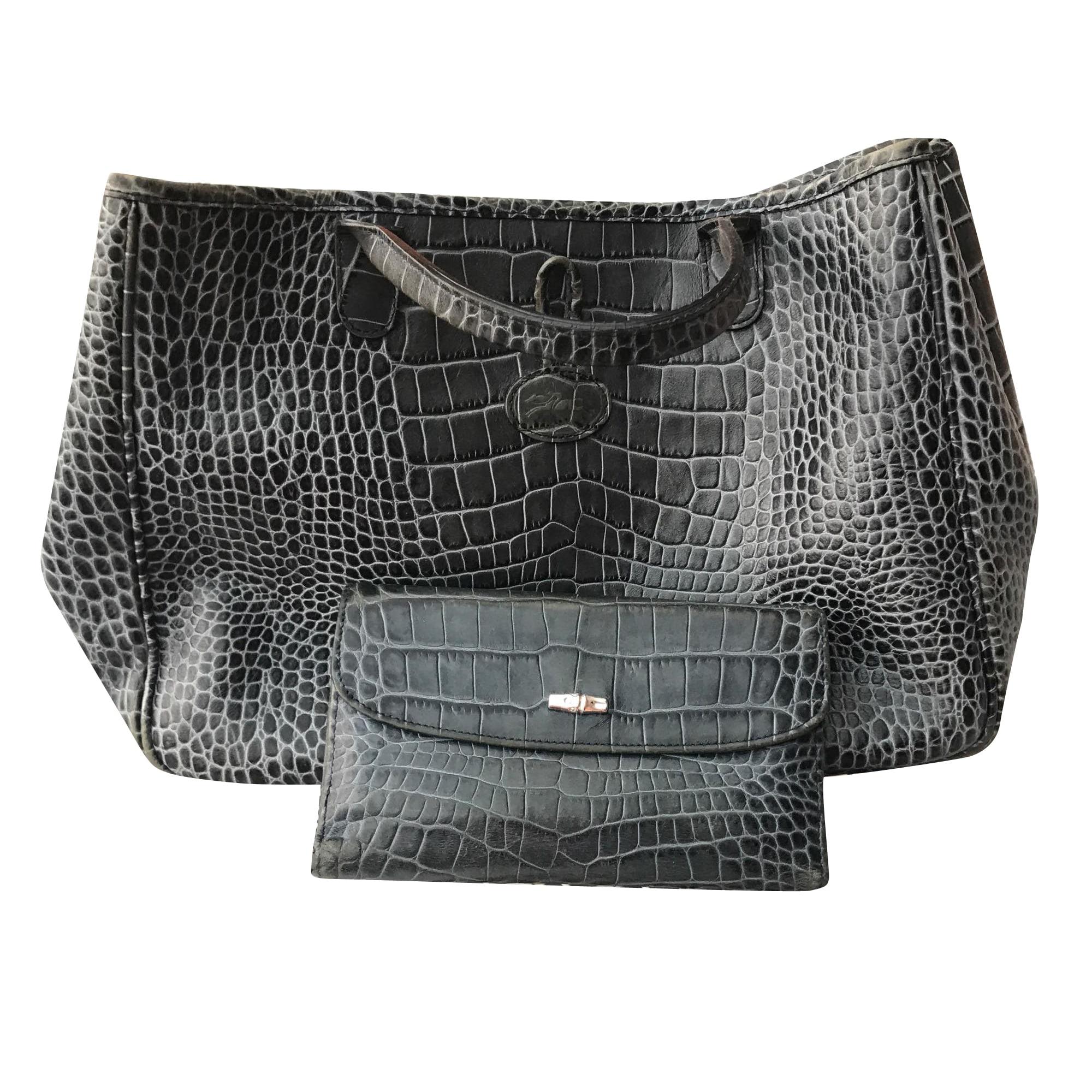 Leather Handbag LONGCHAMP Blue, navy, turquoise